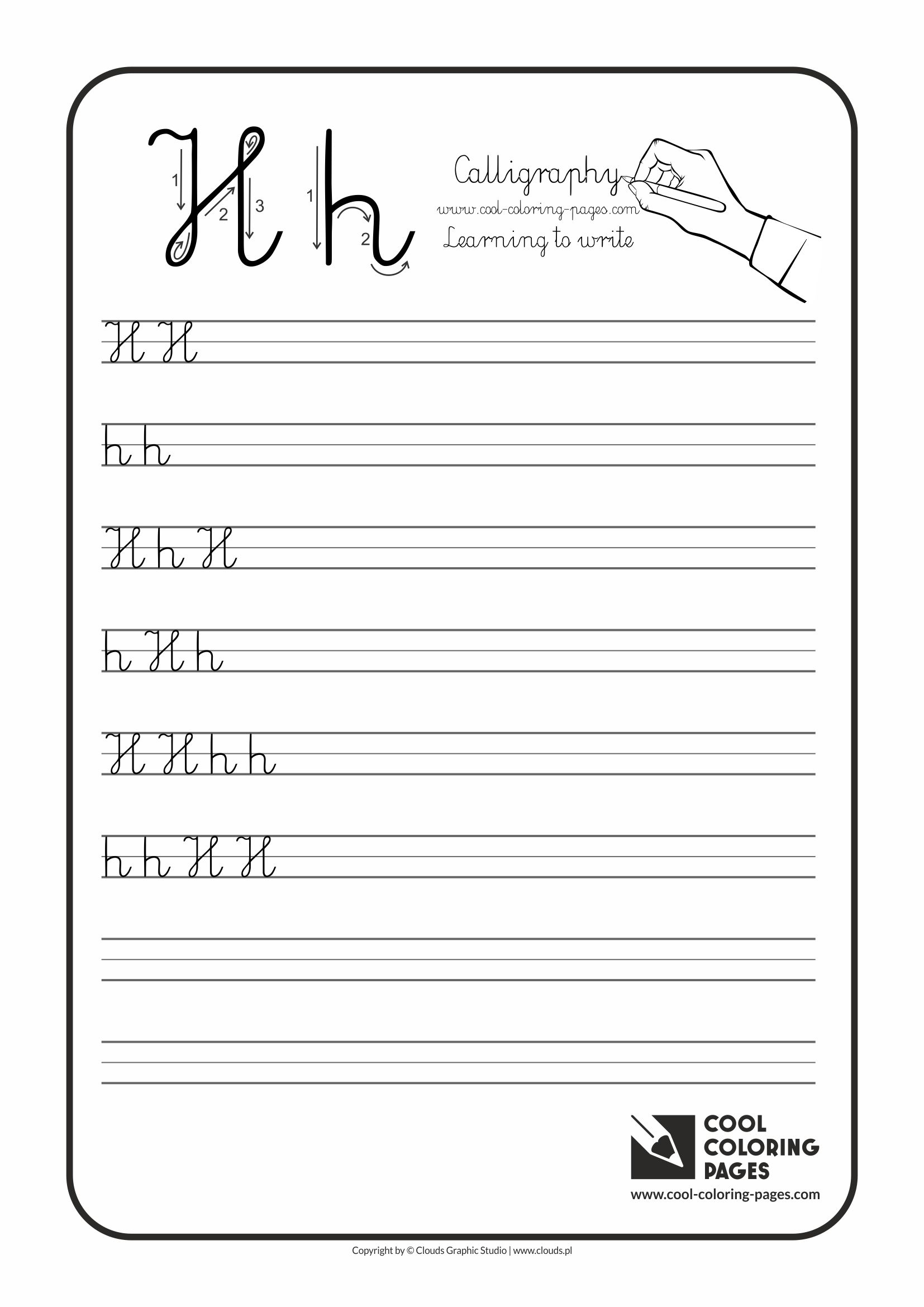 calligraphy for kids letters cool coloring pages