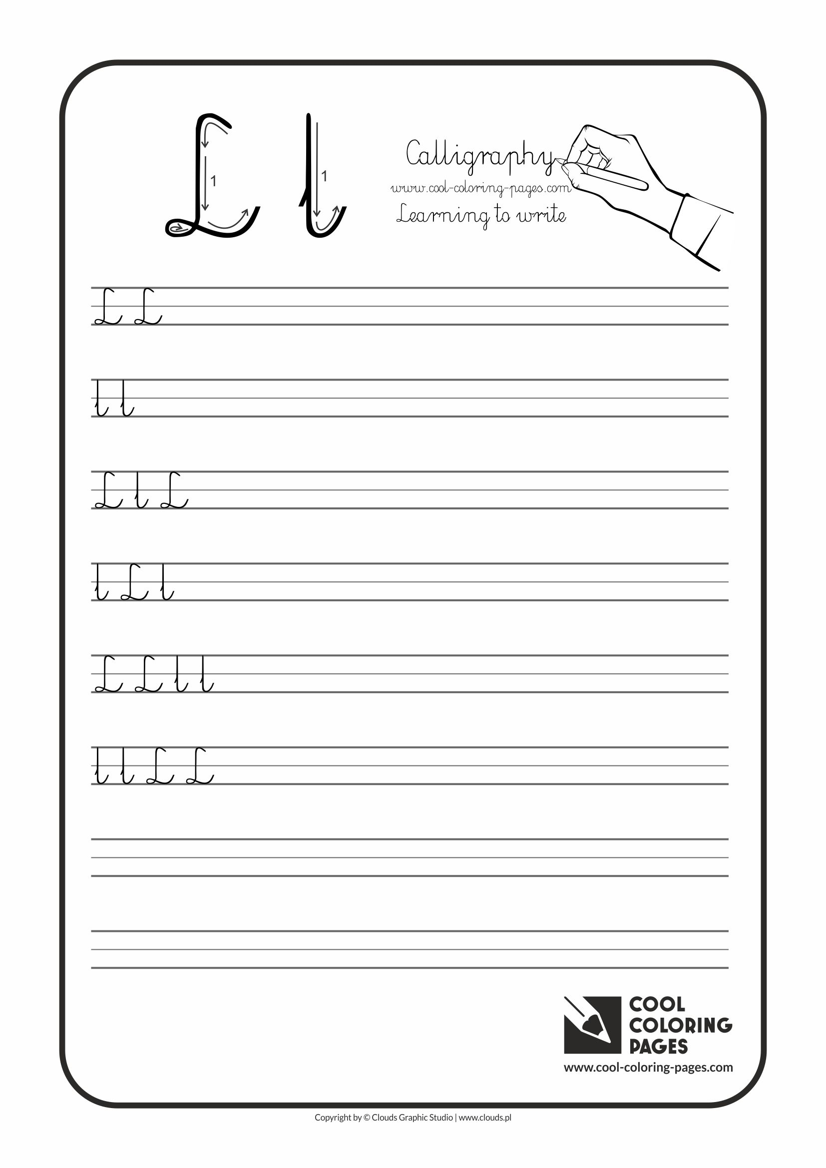 Calligraphy Handwriting Worksheets : Cool coloring pages calligraphy for kids letters
