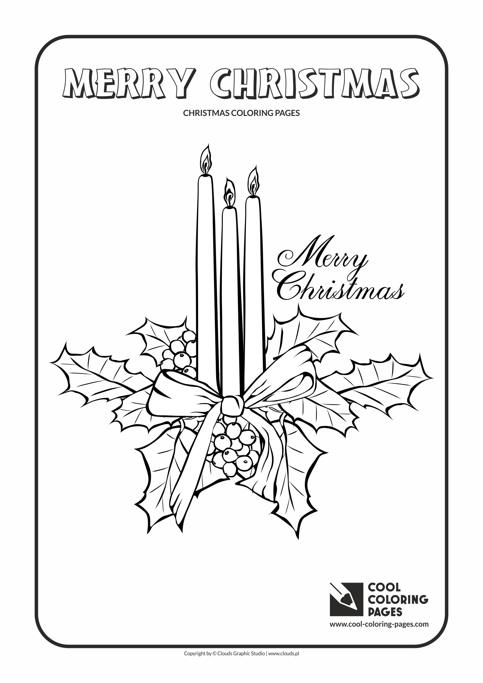 cool coloring pages holidays christmas candles coloring page with christmas candles