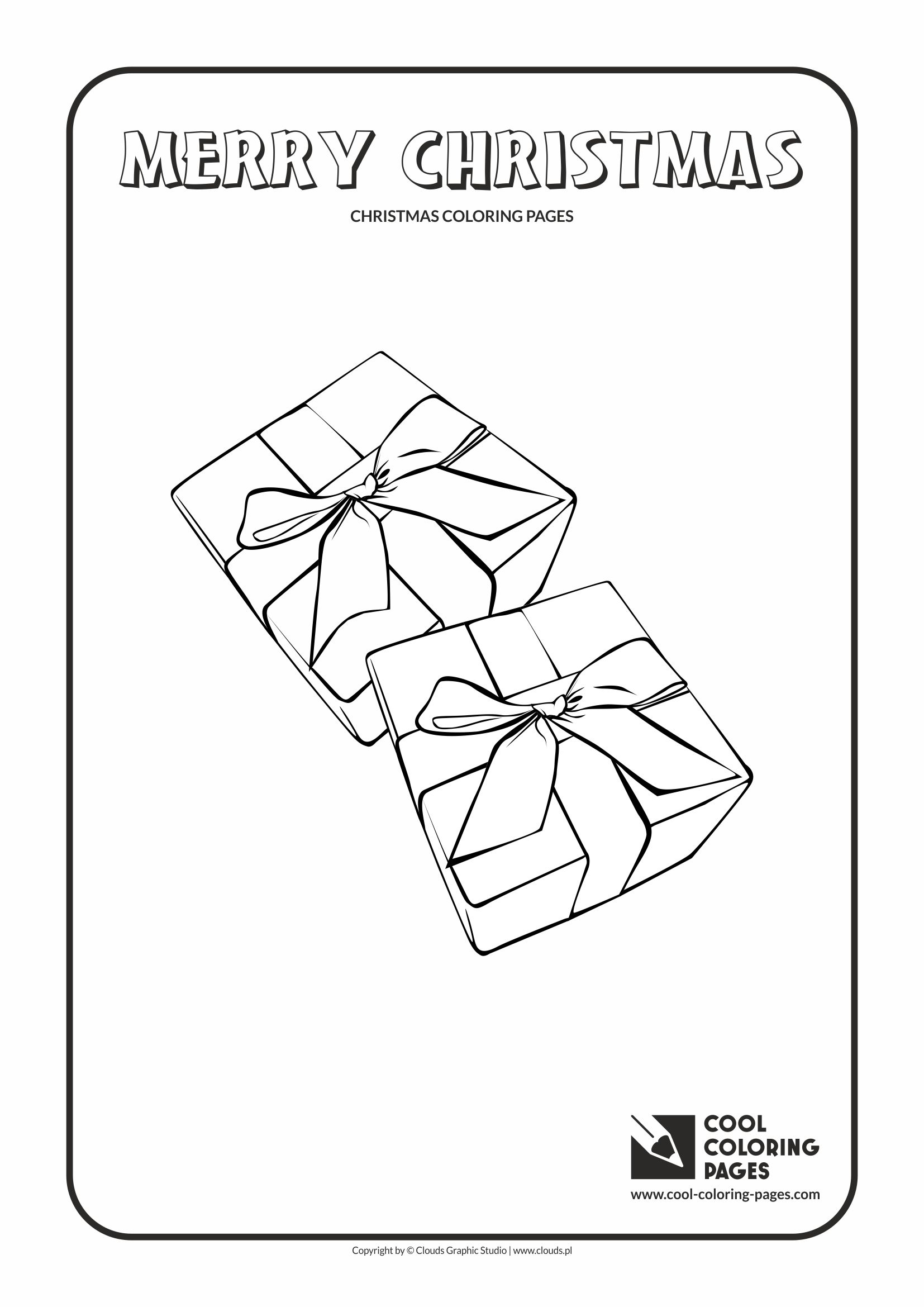 Cool Coloring Pages - Holidays / Christmas gifts / Coloring page with Christmas gifts