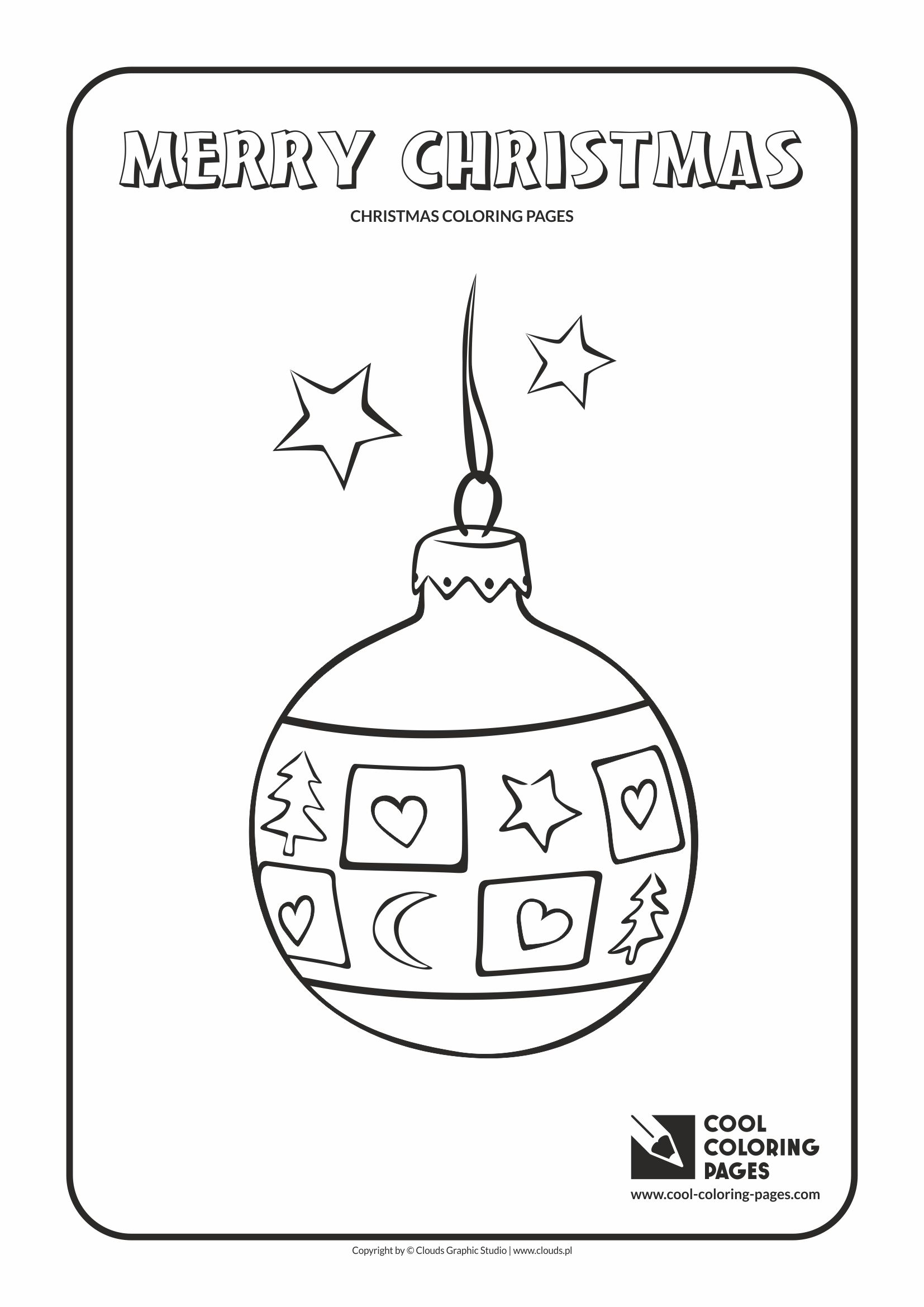 Cool Coloring Pages - Holidays / Christmas glass ball no 1 / Coloring page with Christmas glass ball no 1
