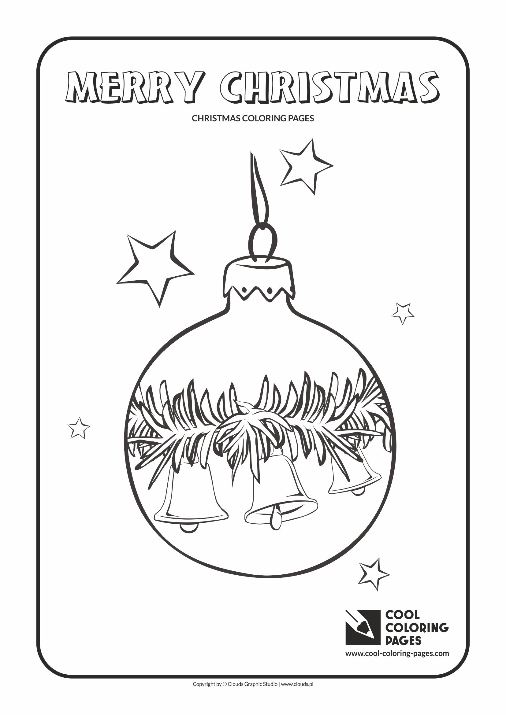 Cool Coloring Pages - Holidays / Christmas glass ball no 4 / Coloring page with Christmas glass ball no 4