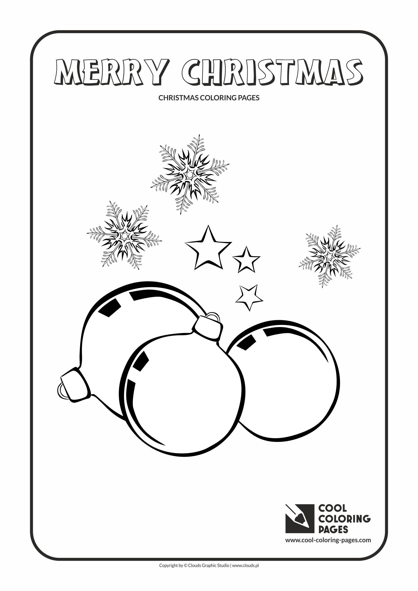 Cool Coloring Pages - Holidays / Christmas glass balls no 1 / Coloring page with Christmas glass balls no 1