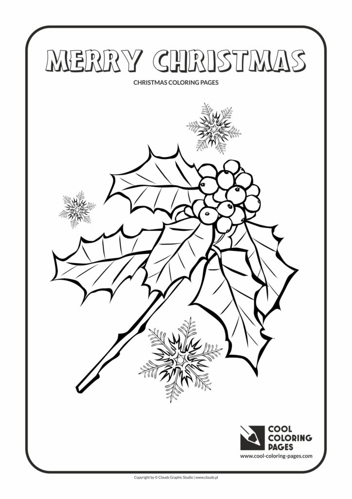 Cool Coloring Pages Holly Berries Coloring Page Cool