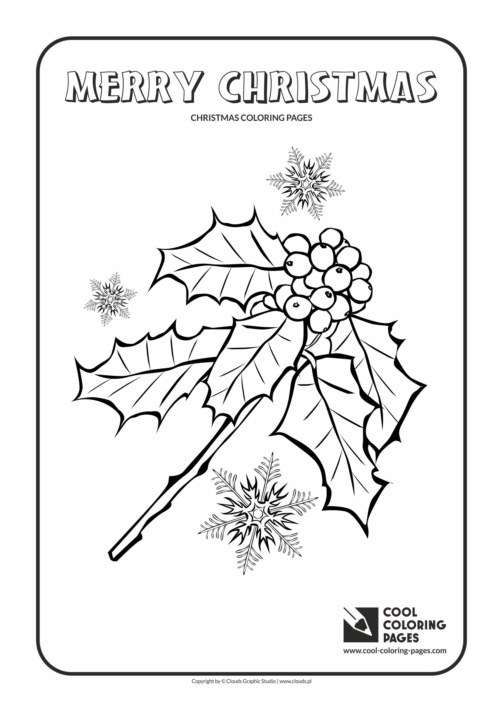 Cool Coloring Pages - Holidays / Holly Berries / Coloring page with Holly Berries