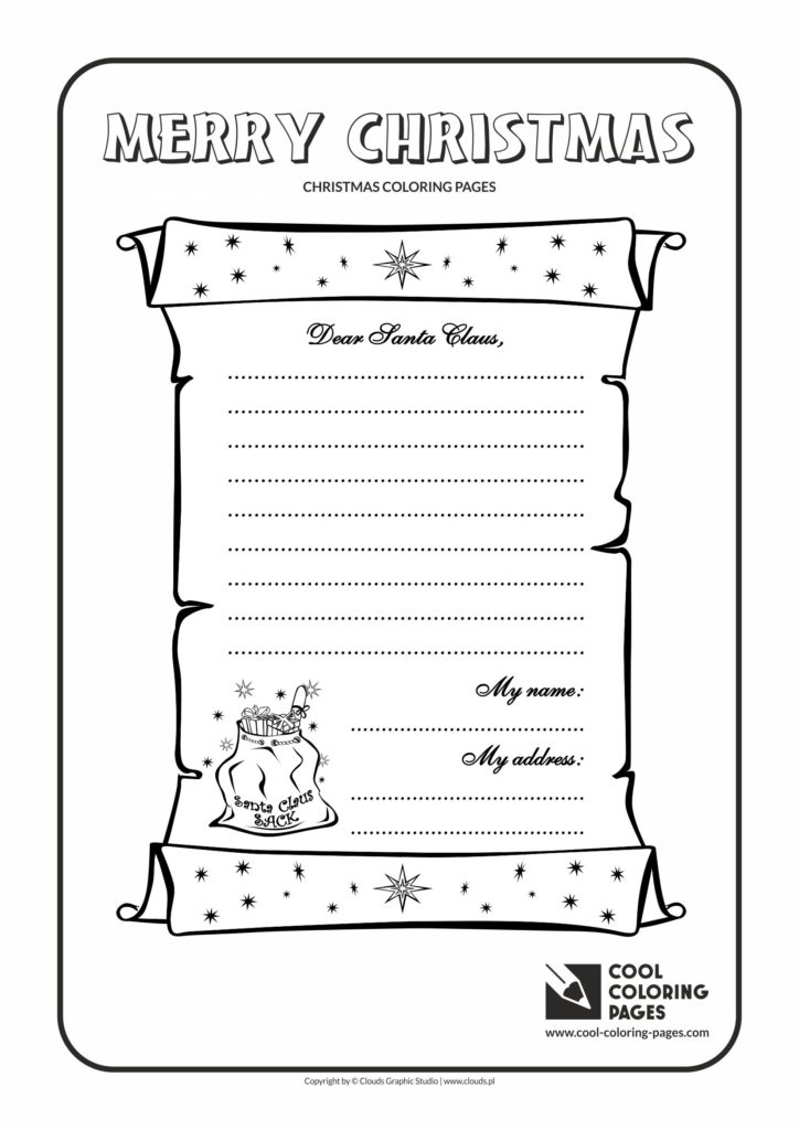 cool coloring pages letter to santa claus no 1 coloring page cool coloring pages free educational coloring pages and activities for kids