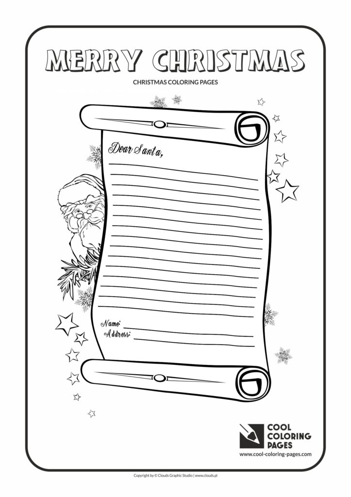 Cool Coloring Pages Letter To Santa Claus No 2 Coloring