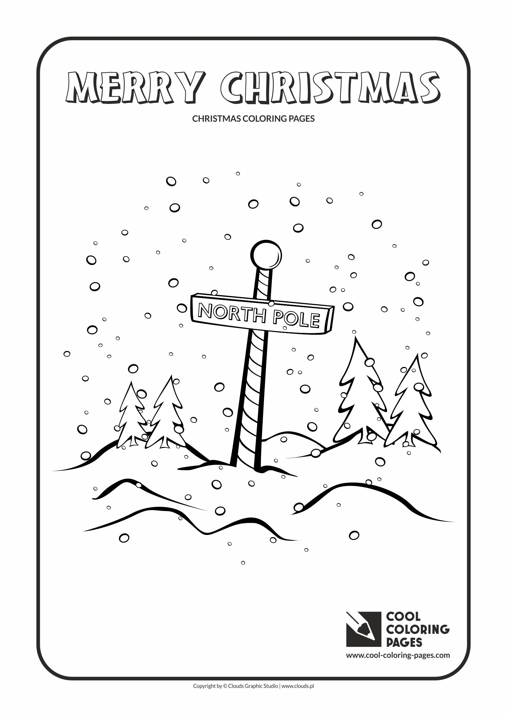 Cool Coloring Pages - Holidays / North Pole no 1 / Coloring page with North Pole no 1