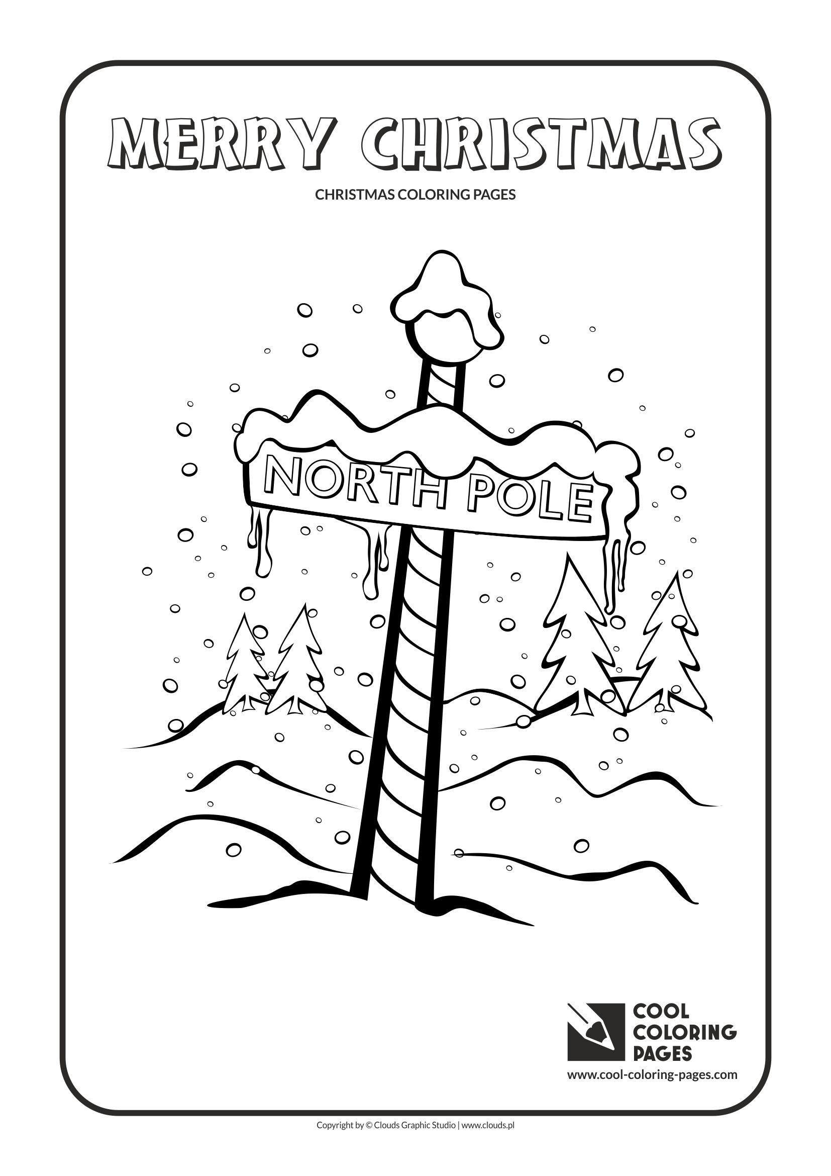 Cool Coloring Pages - Holidays / North Pole no 2 / Coloring page with North Pole no 2