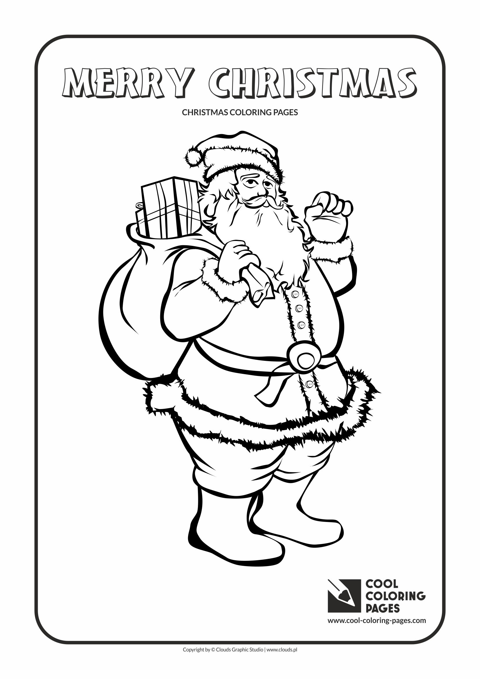 cool coloring pages holidays santa claus no 2 coloring page with santa claus