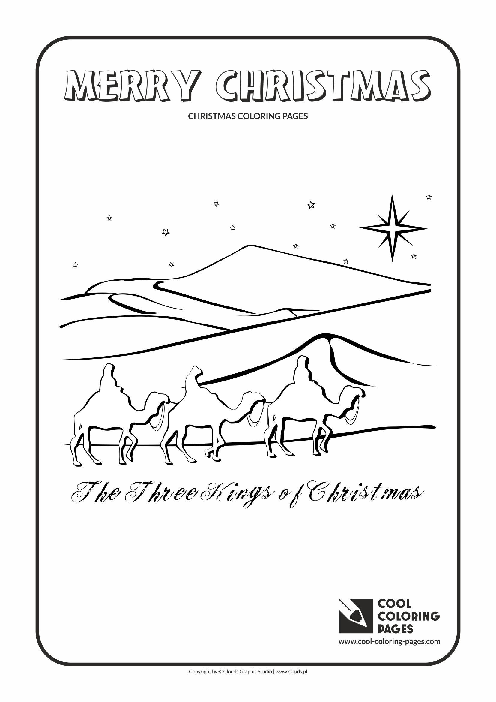 Cool Coloring Pages - Holidays / Three Kings of Christmas / Coloring page with Three Kings of Christmas