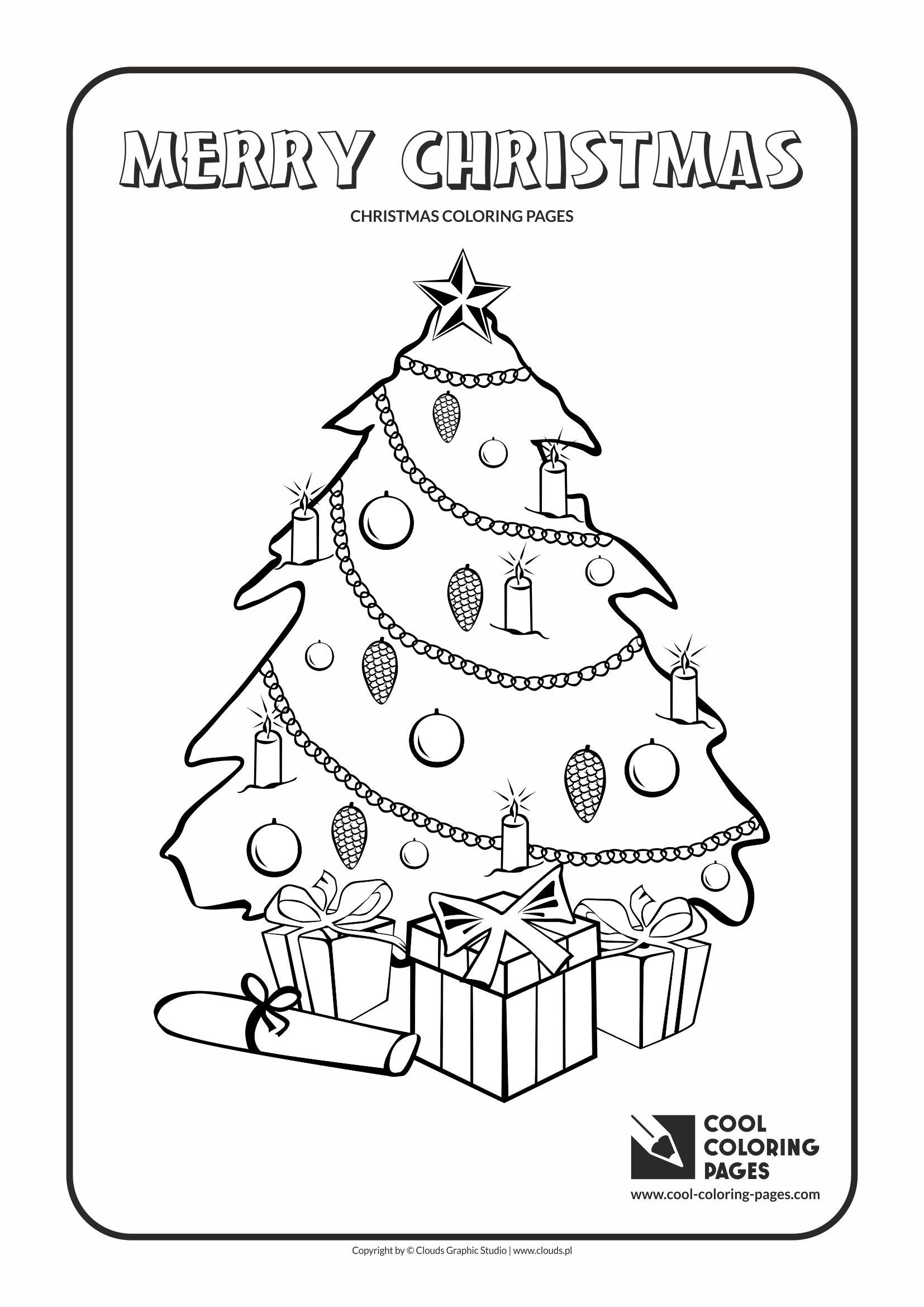 cool coloring pages holidays christmas tree no 2 coloring page with christmas tree