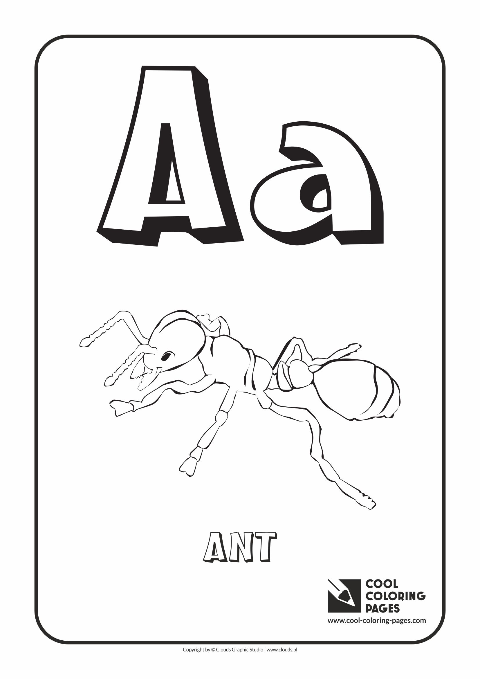 cool coloring pages alphabet letter a coloring page with letter a - A Coloring Pages