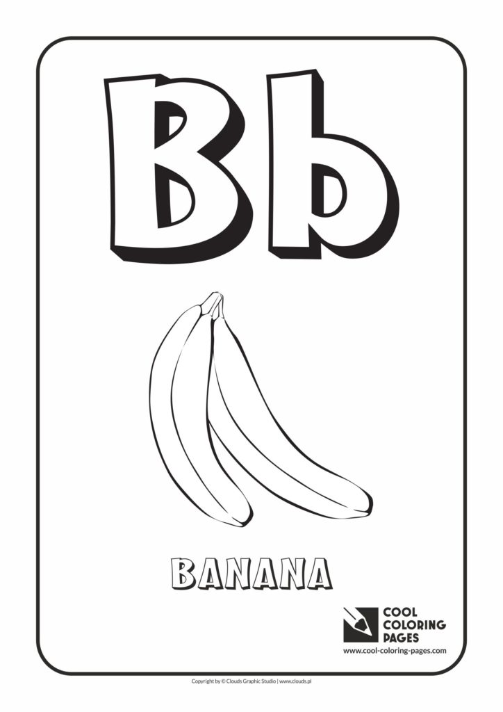 Cool Coloring Pages Letter B Coloring Alphabet Cool