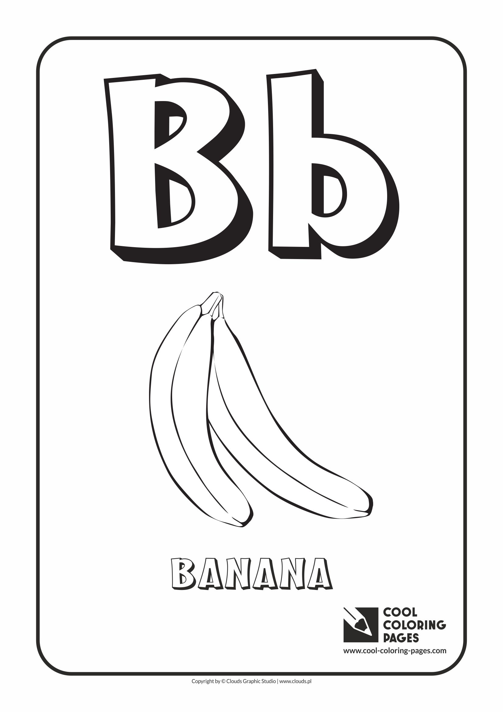 Coloring pages for alphabet - Cool Coloring Pages Alphabet Letter B Coloring Page With Letter B
