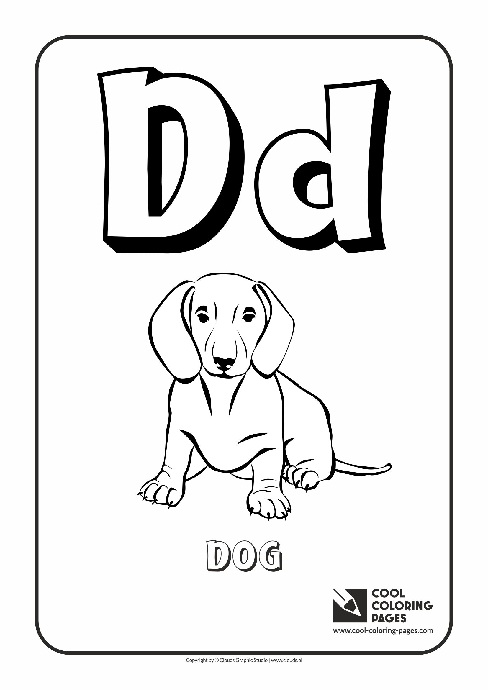 cool coloring pages alphabet letter d coloring page with letter d - Cool Color Pages