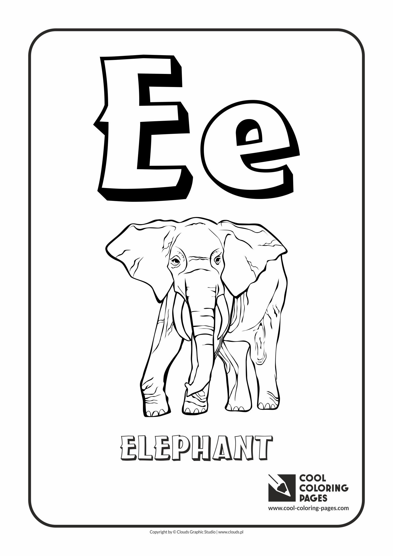 Letter E Coloring Alphabet Cool Coloring Pages