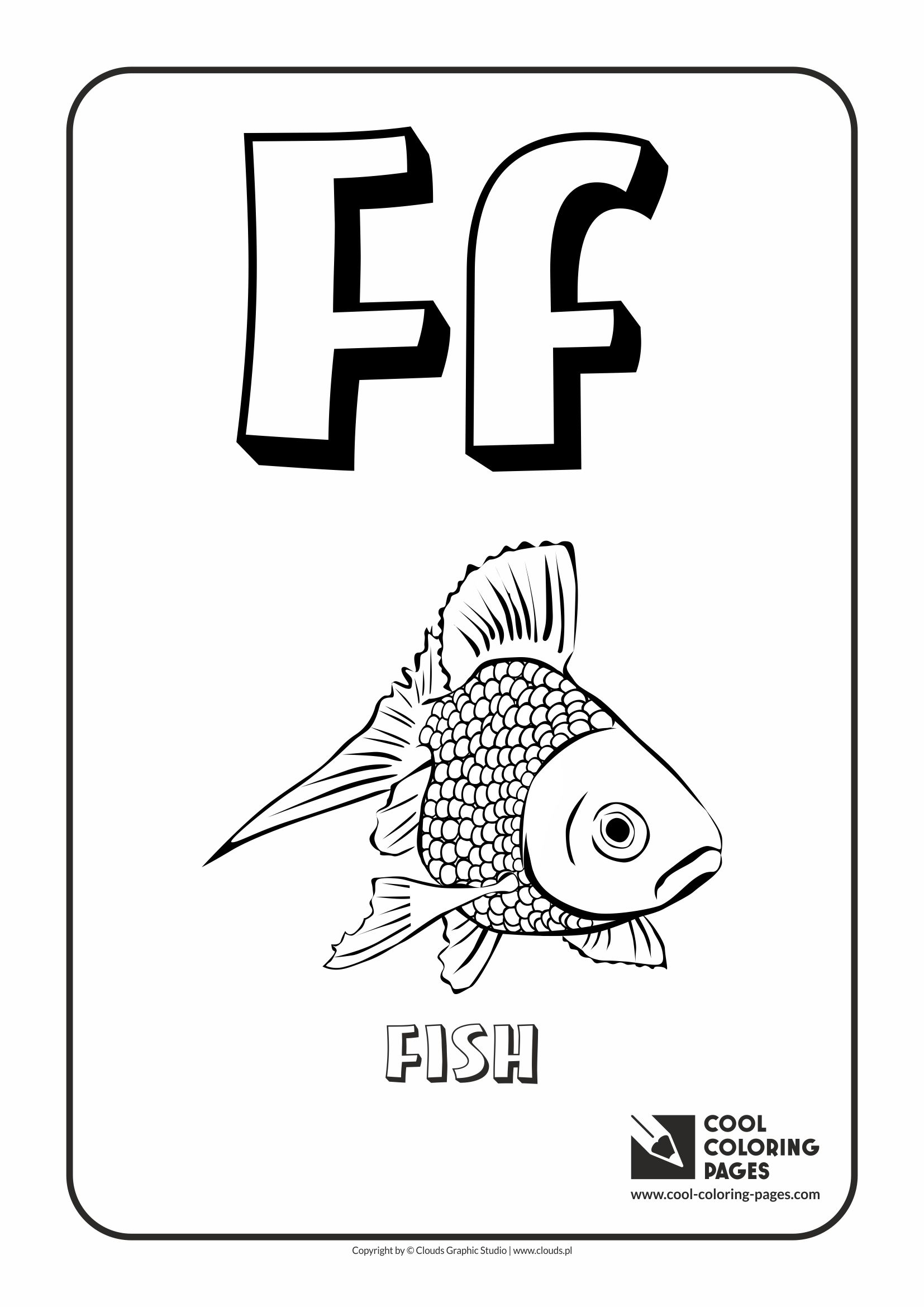 Coloring pages for alphabet - Cool Coloring Pages Alphabet Letter F Coloring Page With Letter F