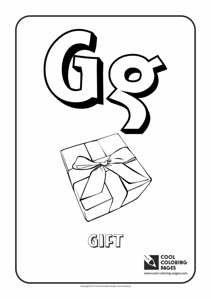 Cool Coloring Pages Letter G Coloring Alphabet Cool