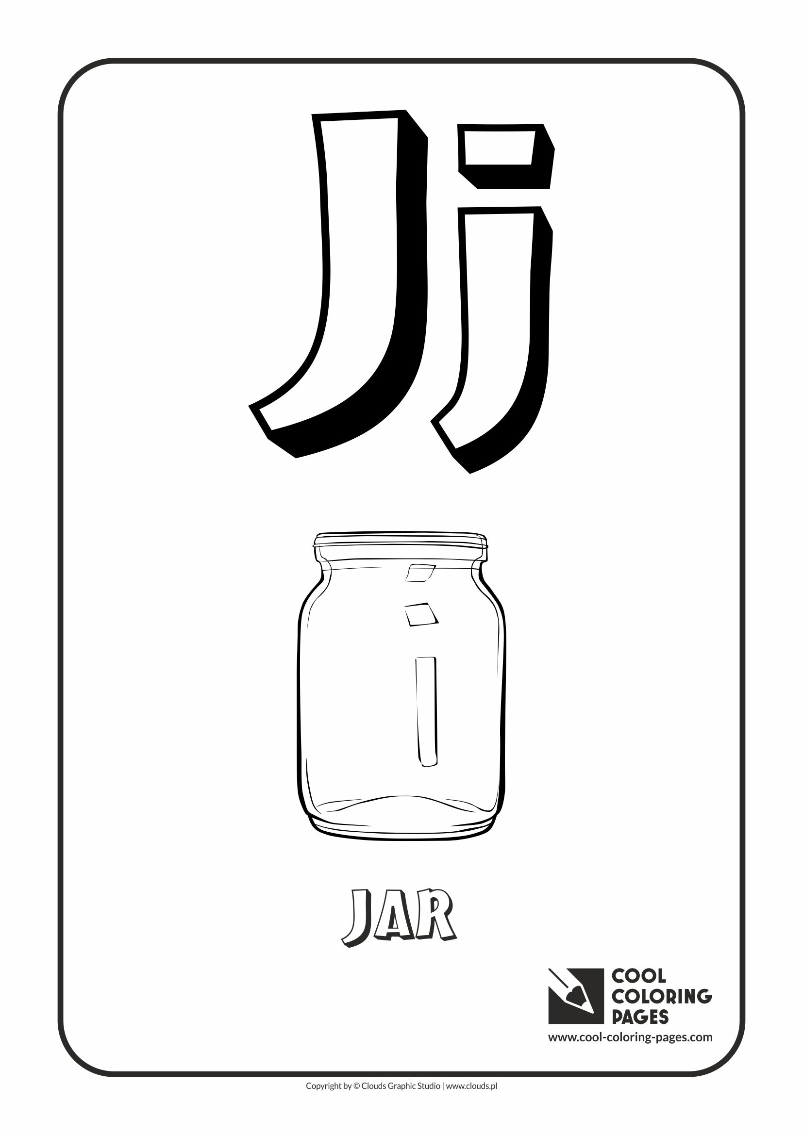 cool coloring pages alphabet letter j coloring page with letter j