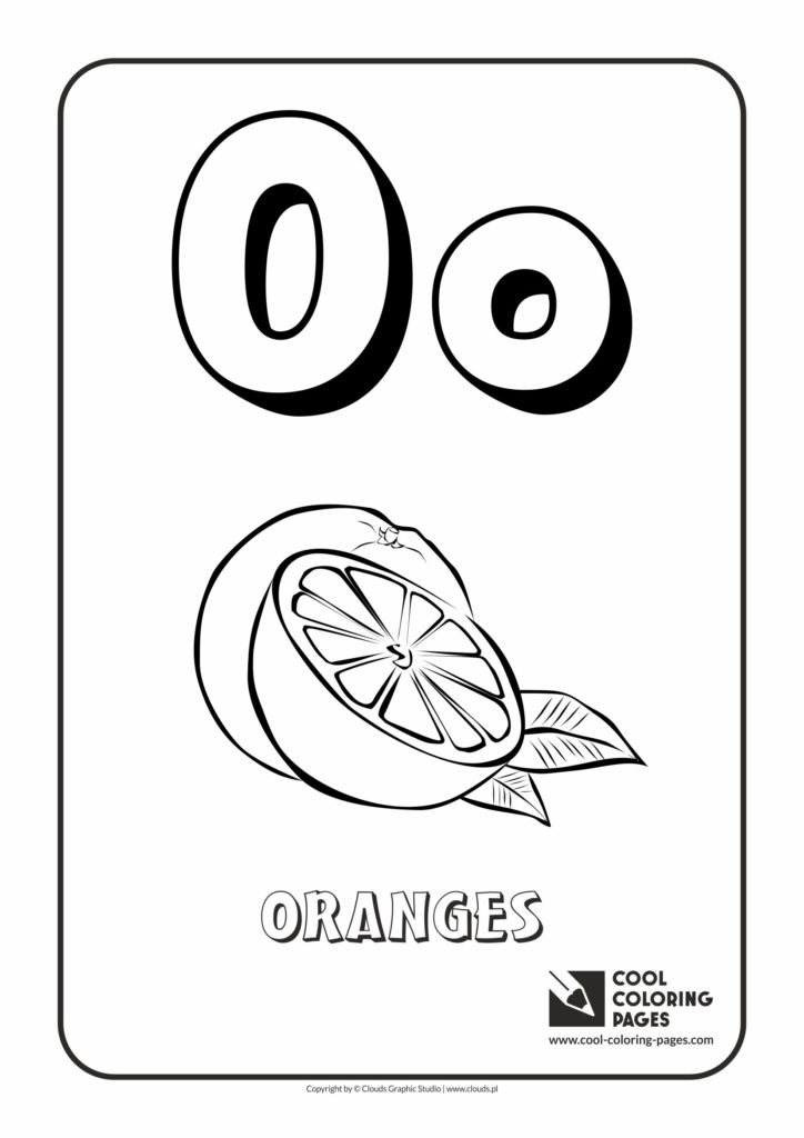 Cool Coloring Pages Letter O Coloring Alphabet Cool