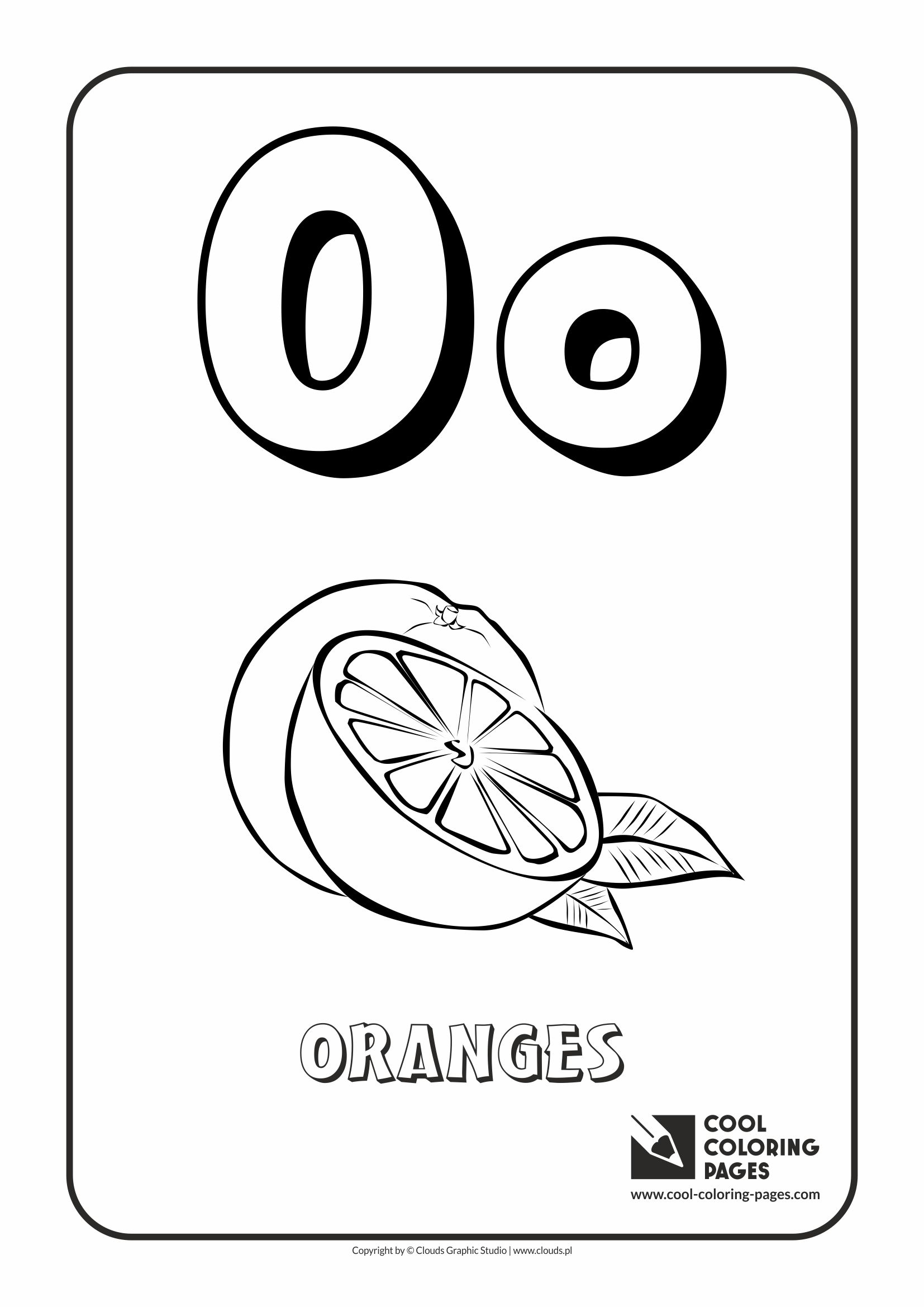 cool coloring pages alphabet letter o coloring page with letter o