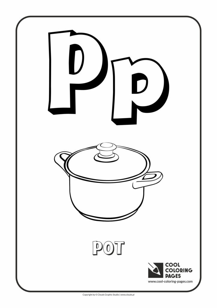 Cool Coloring Pages Letter P Coloring Alphabet Cool