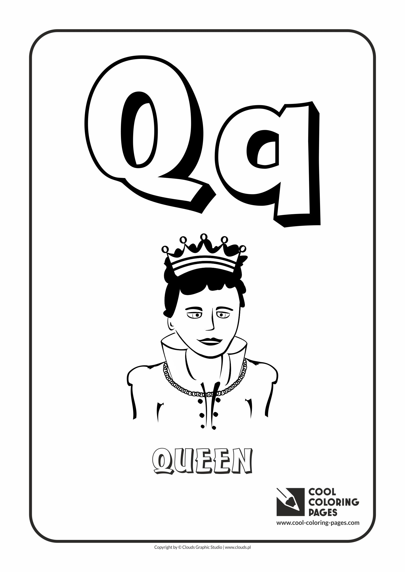 Cool Coloring Pages Letter Q