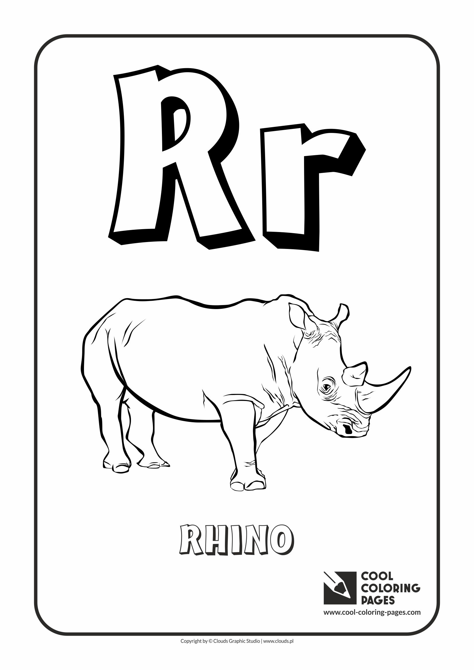 Spanish Alphabet Coloring Pages Printable : Coloring page for letter r pages