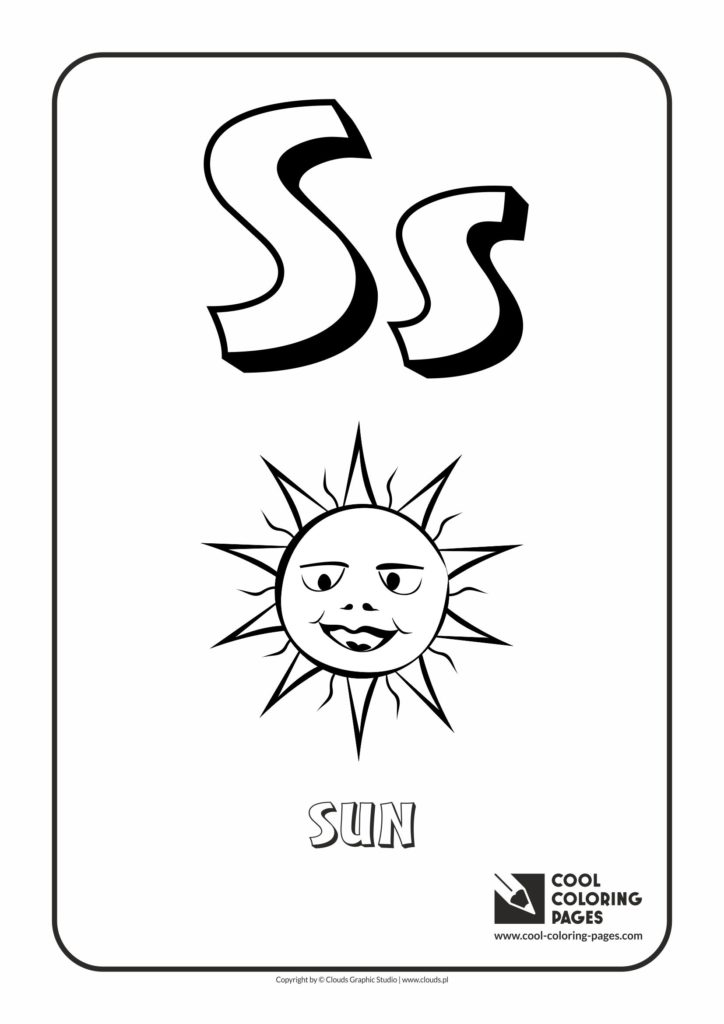 Cool Coloring Pages Letter S Coloring Alphabet Cool