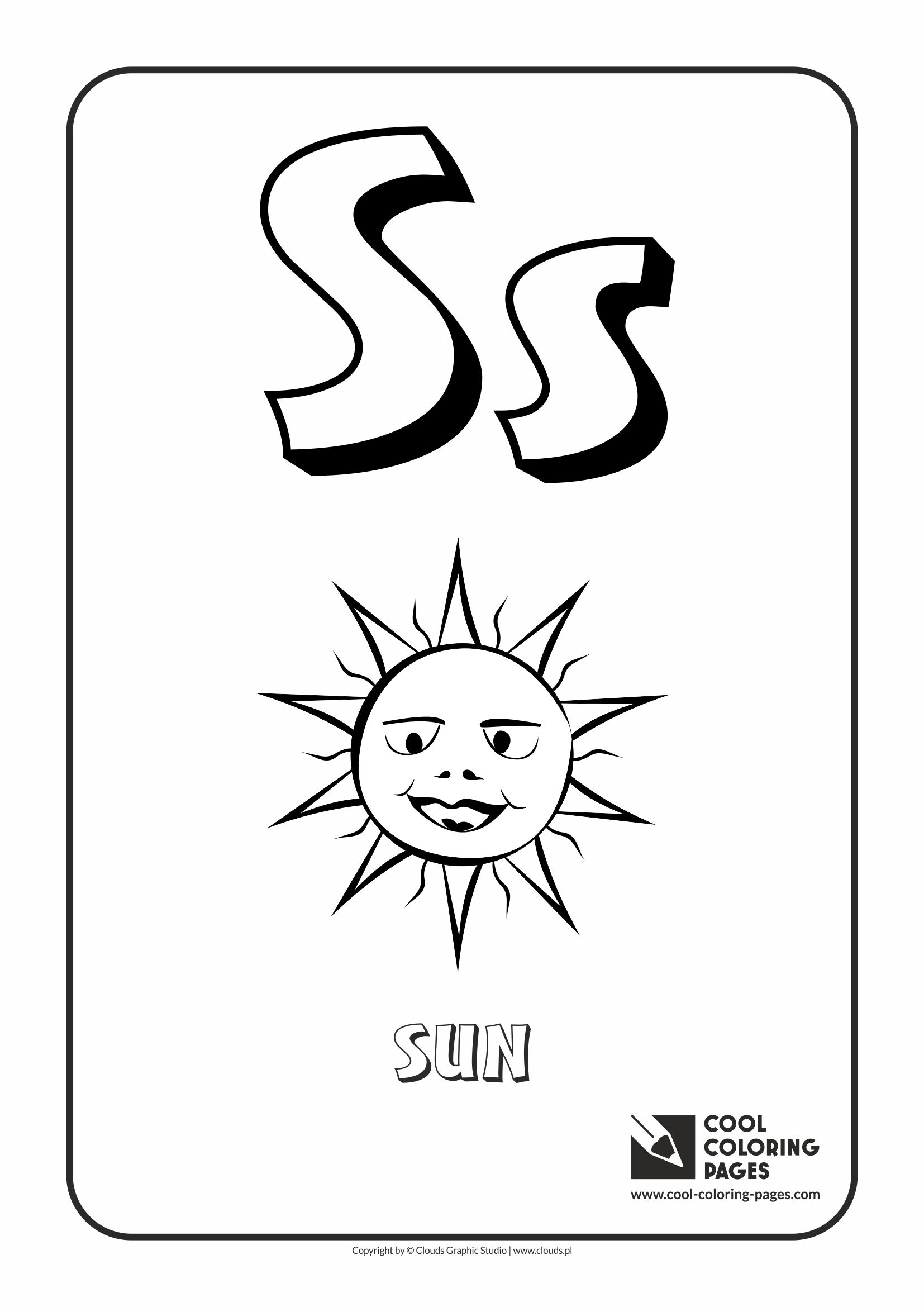 cool coloring pages alphabet letter s coloring page with letter s - S Coloring Pictures