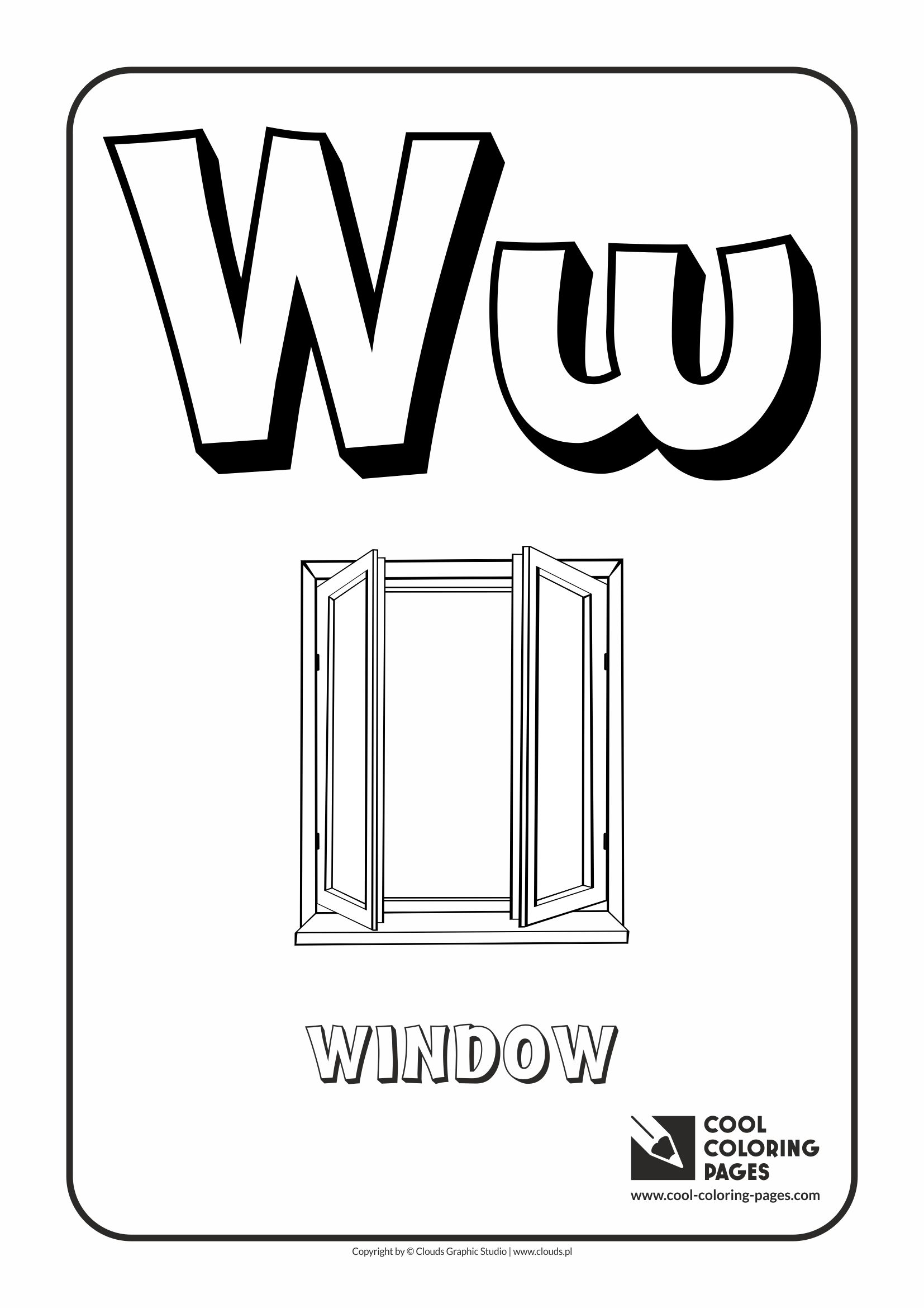 letter w u2013 coloring alphabet cool coloring pages