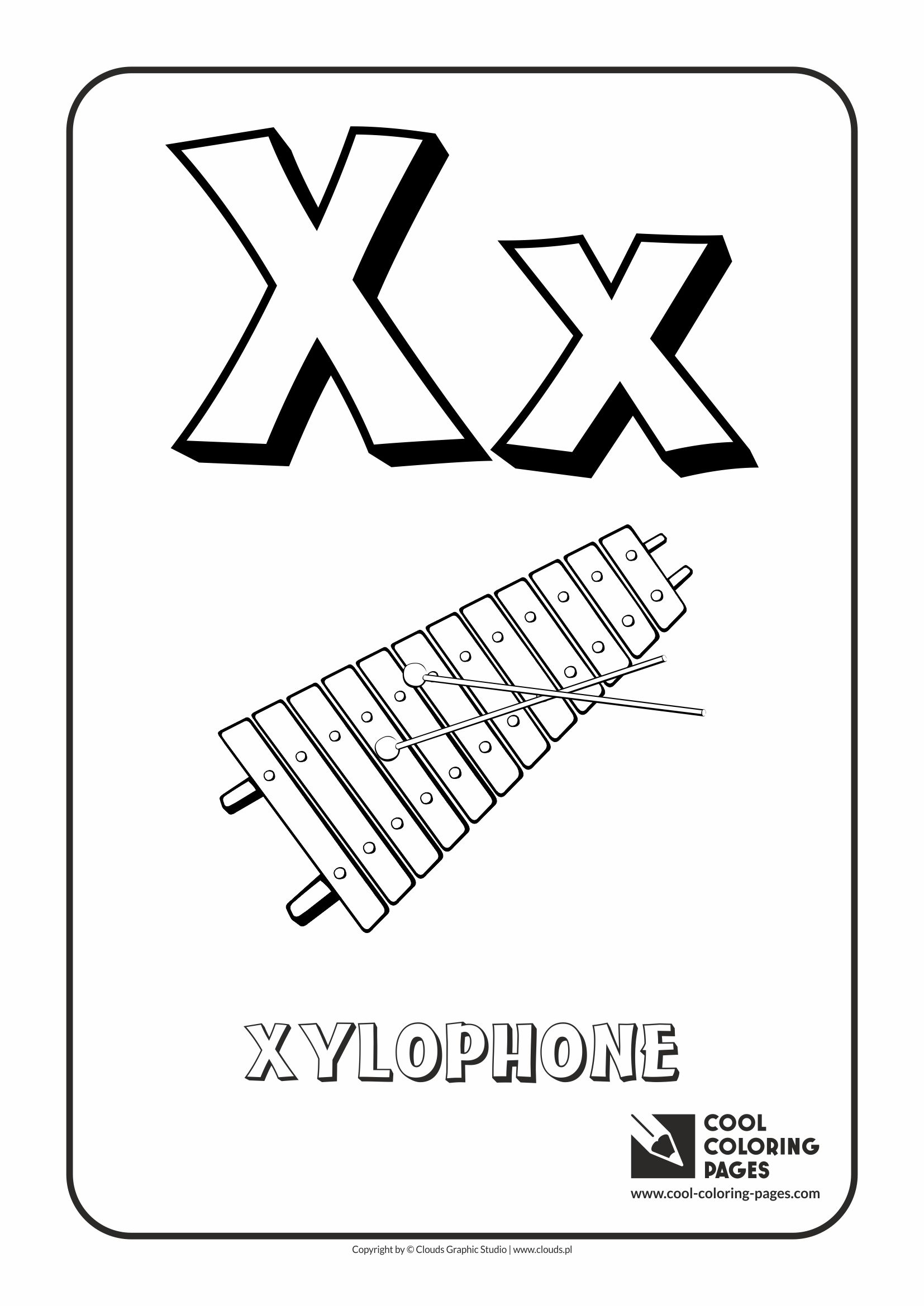 X ray coloring page - Cool Coloring Pages Alphabet Letter X Coloring Page With Letter X
