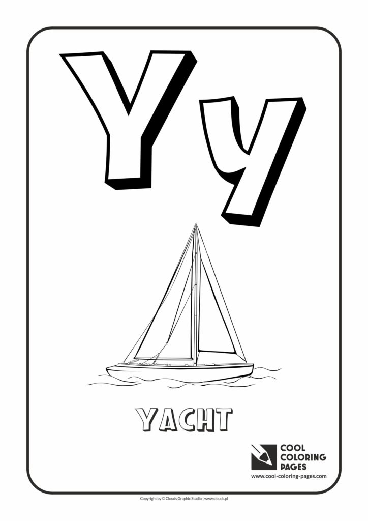 Cool Coloring Pages Letter Y
