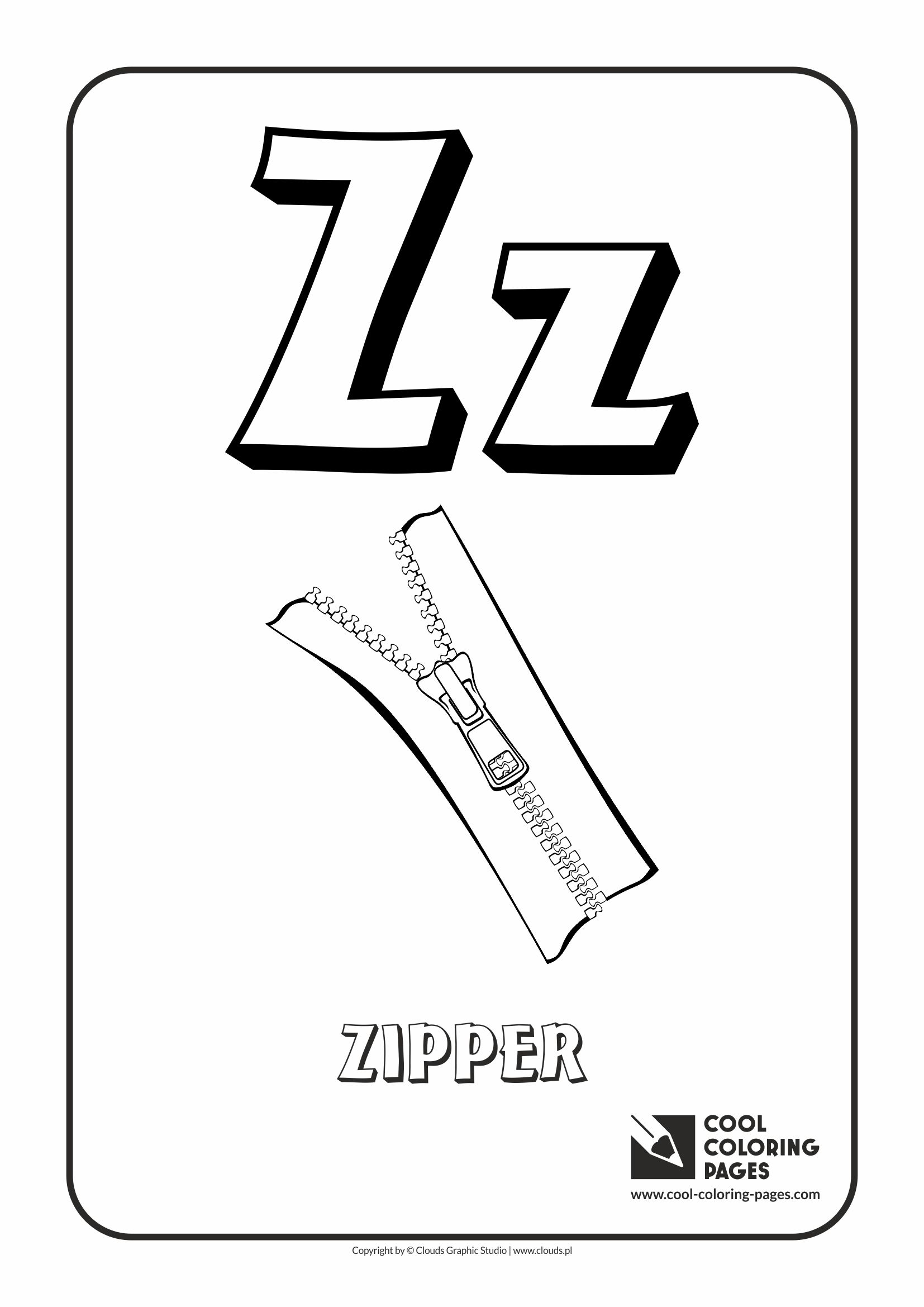Cool Coloring Pages Letter Z Coloring Alphabet Cool