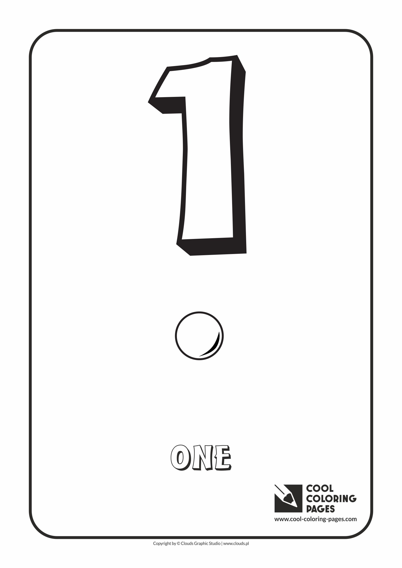 Cool Coloring Pages - Digits / Digit 1 / Coloring page with digit 1