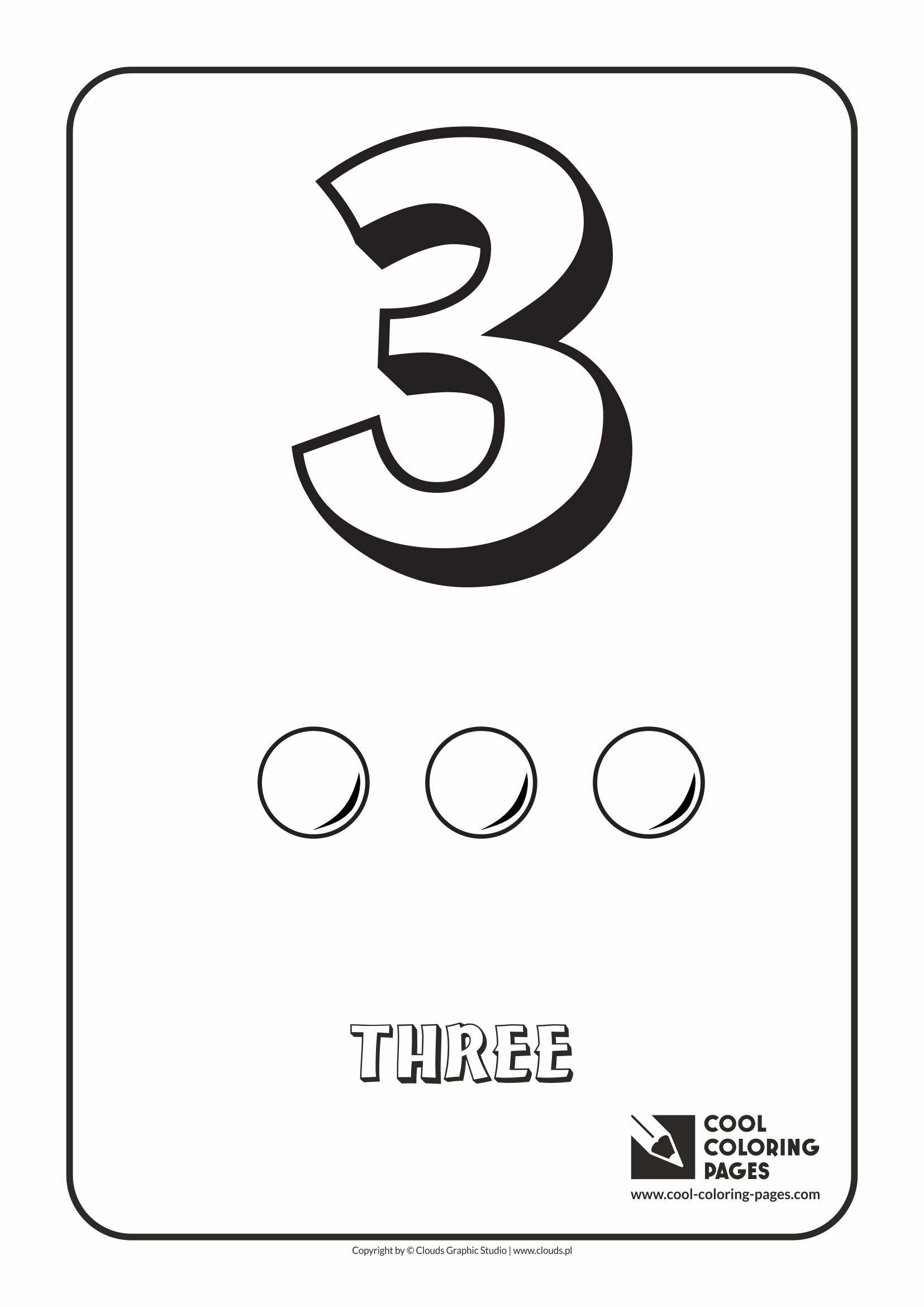Cool Coloring Pages - Digits / Digit 3 / Coloring page with digit 3