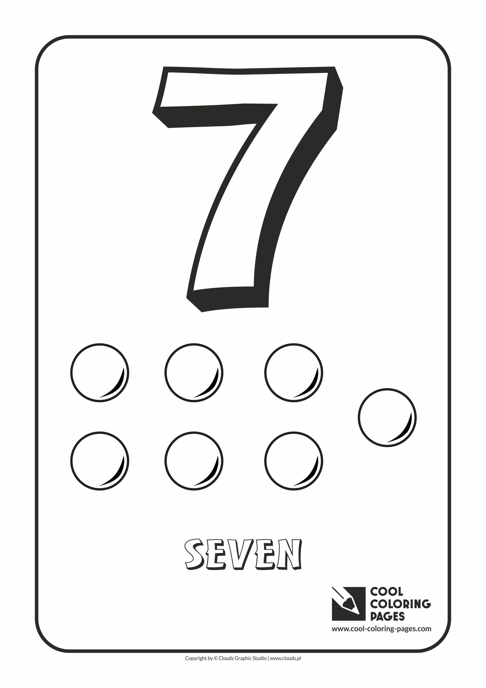 Cool Coloring Pages - Digits / Digit 7 / Coloring page with digit 7