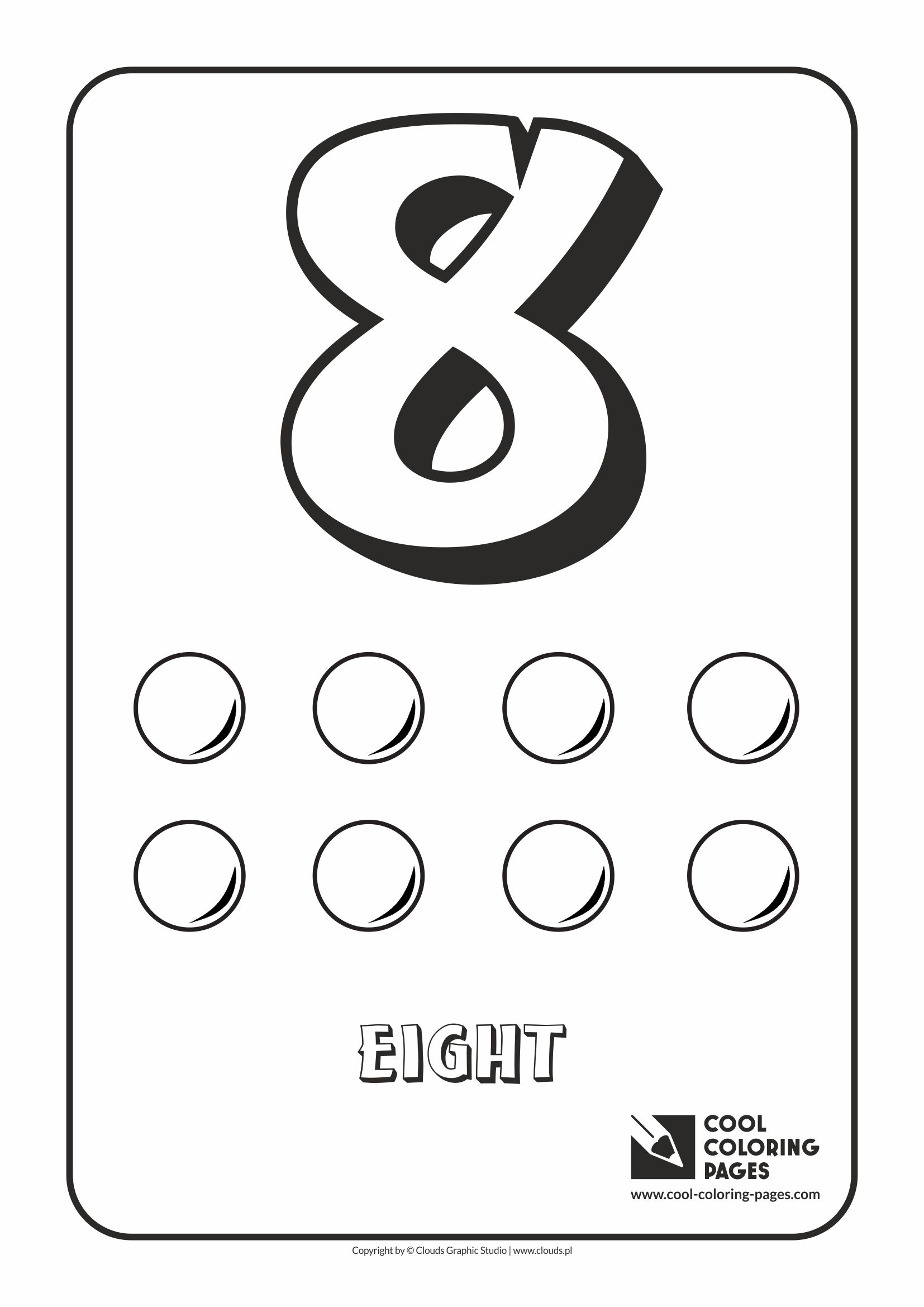 Cool Coloring Pages - Digits / Digit 8 / Coloring page with digit 8