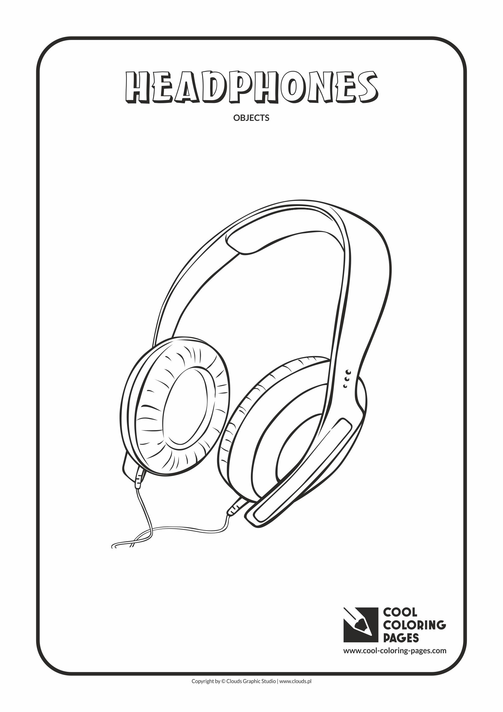 Cool Coloring Pages - Coloring objects / Headphones