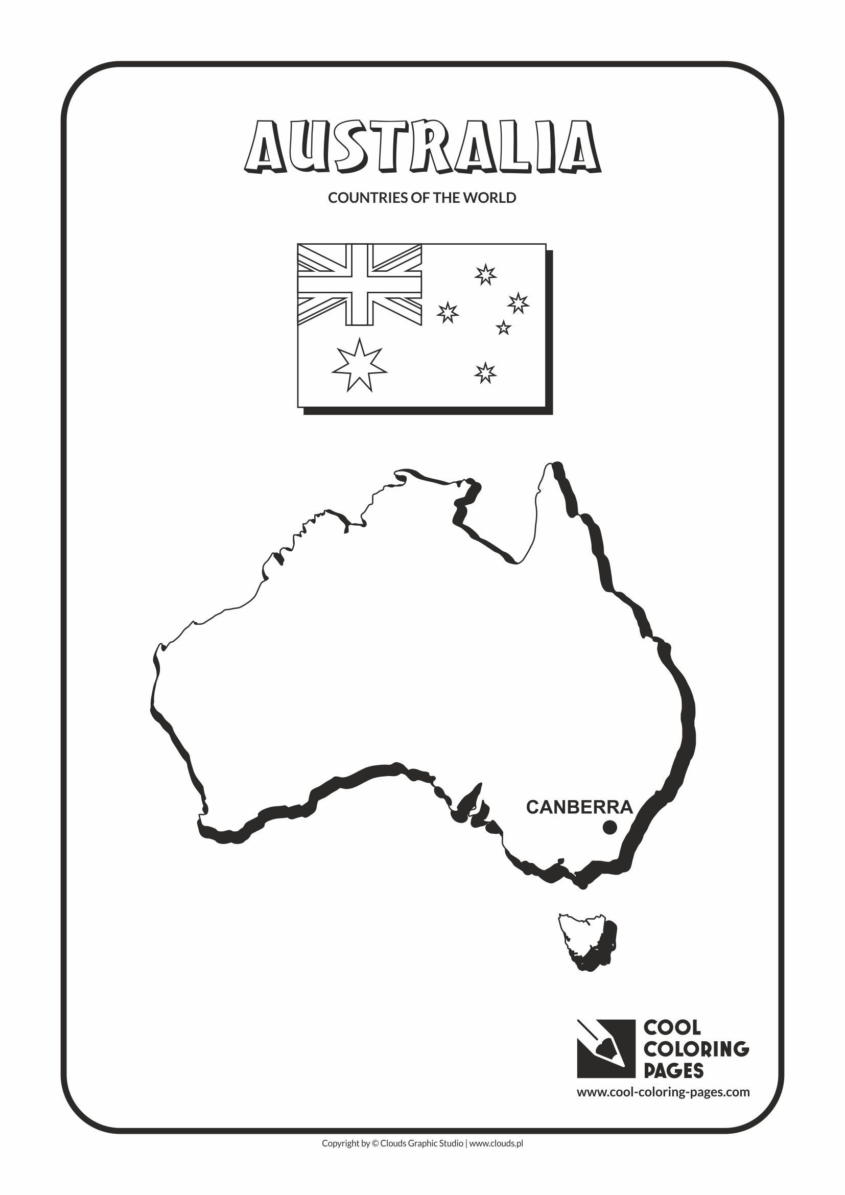 australia u2013 countries of the world cool coloring pages