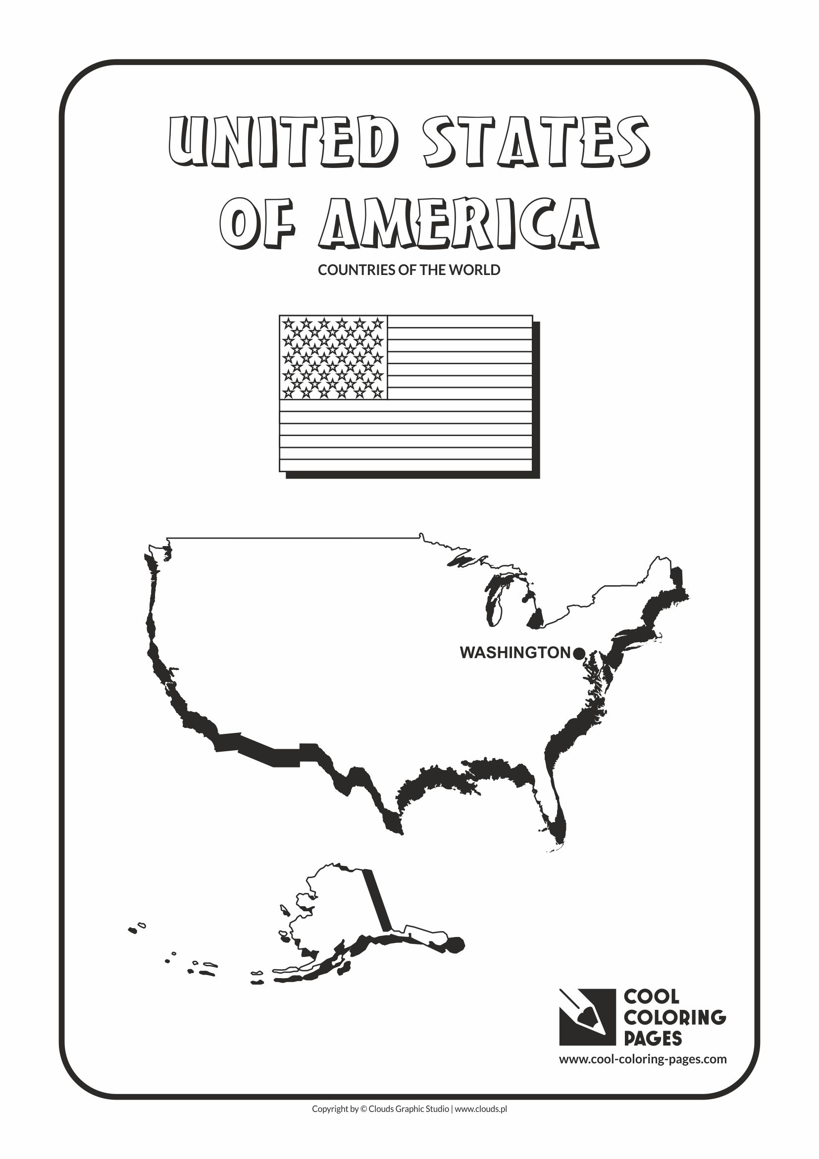 Cool Coloring Pages - Countries of the world / USA