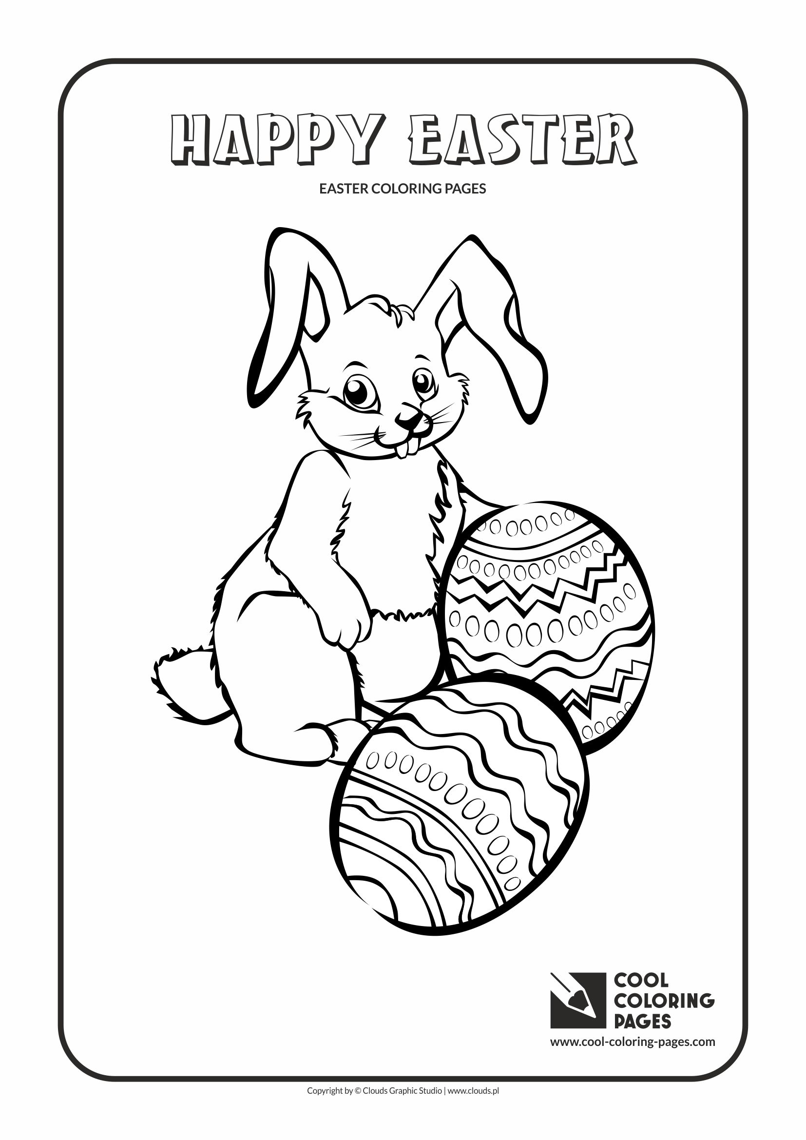 Cool Coloring Pages Easter Bunny No 1 Page