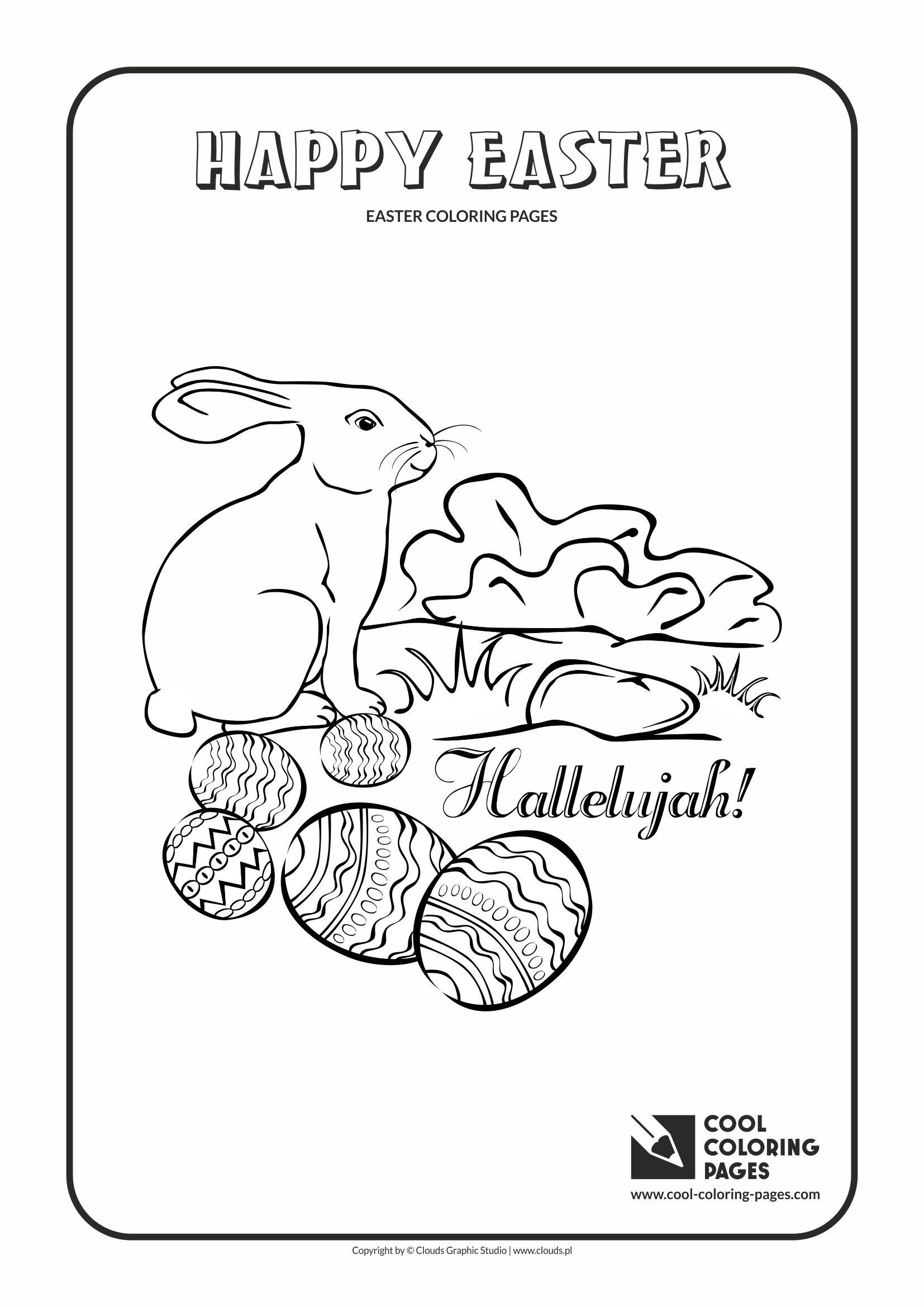 Cool Coloring Pages - Holidays / Easter bunny no 2 / Coloring page with Easter bunny no 2