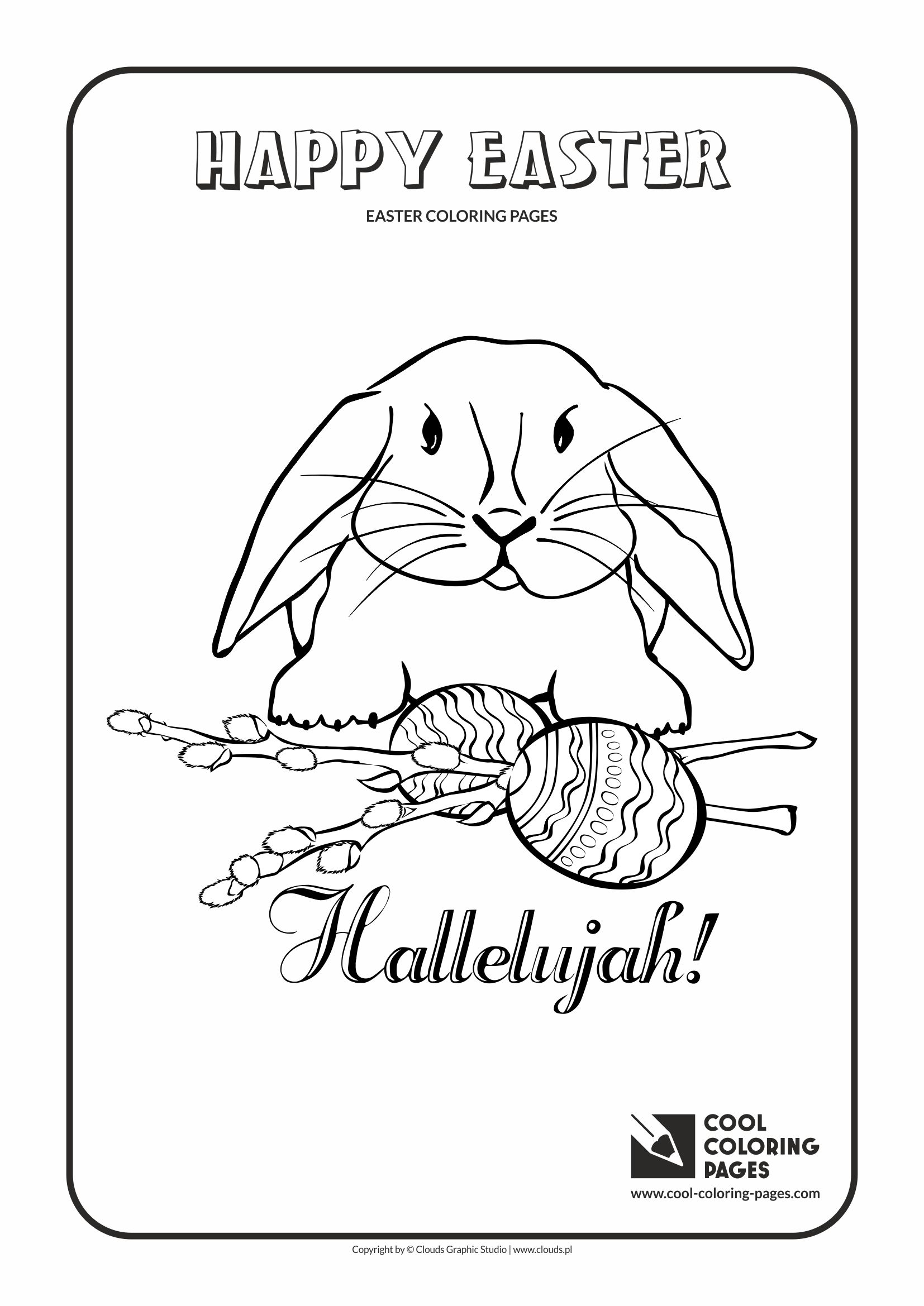 Cool Coloring Pages - Holidays / Easter bunny no 3 / Coloring page with Easter bunny no 3