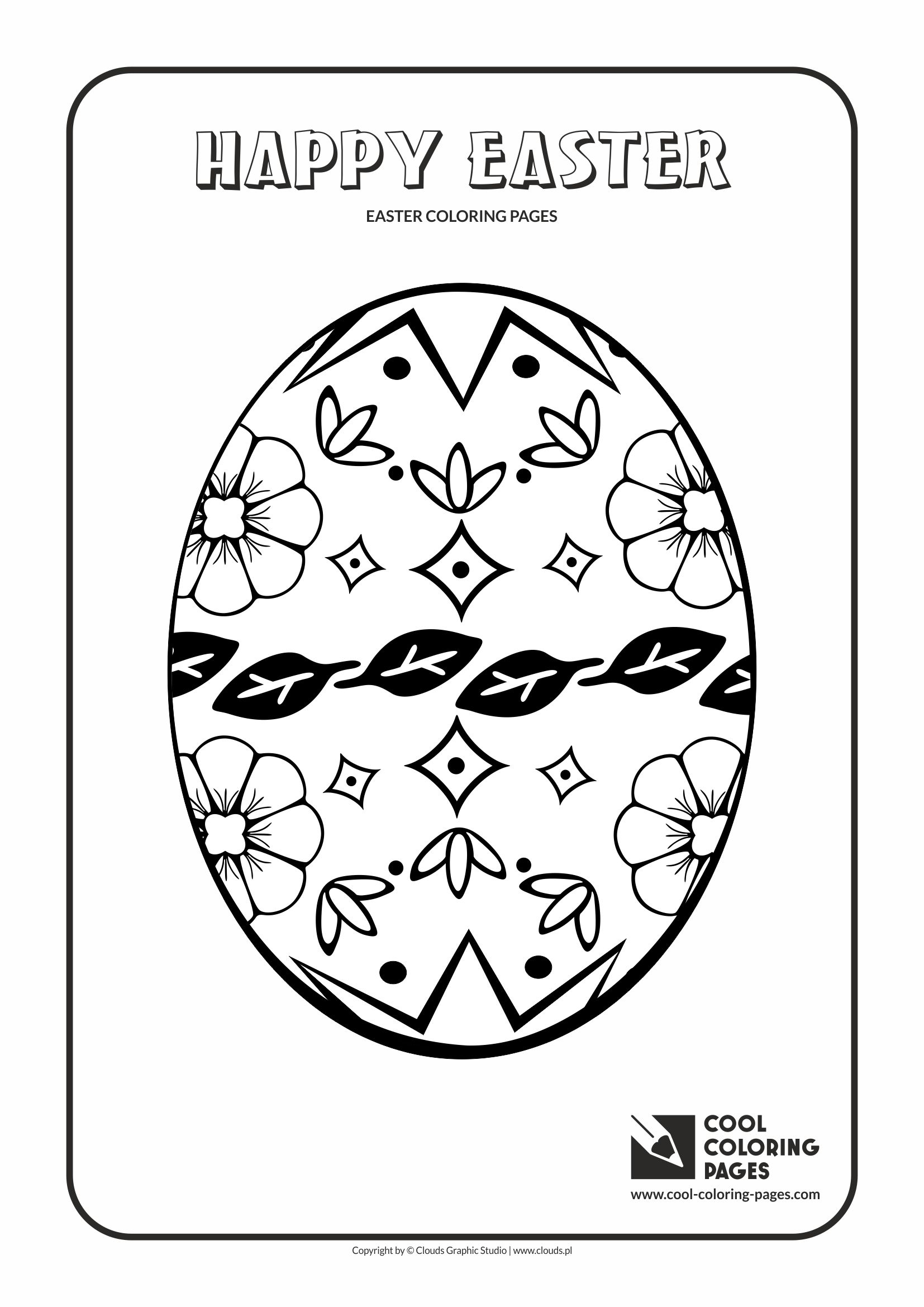 Cool Coloring Pages - Holidays / Easter egg no 3 / Coloring page with Easter egg no 3