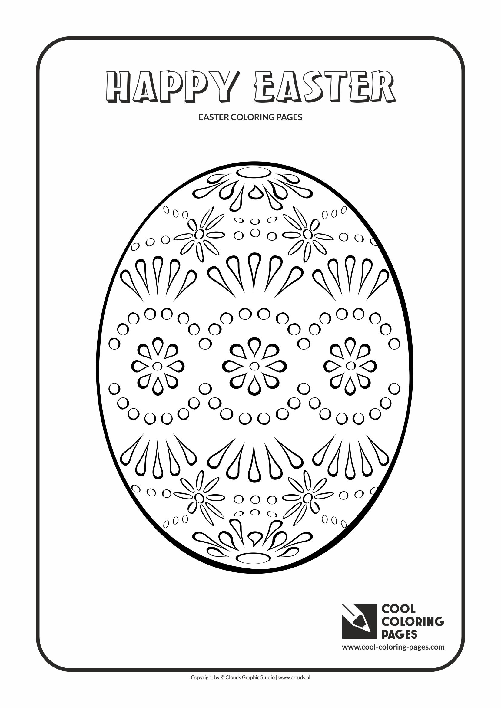 Cool Coloring Pages - Holidays / Easter egg no 5 / Coloring page with Easter egg no 5