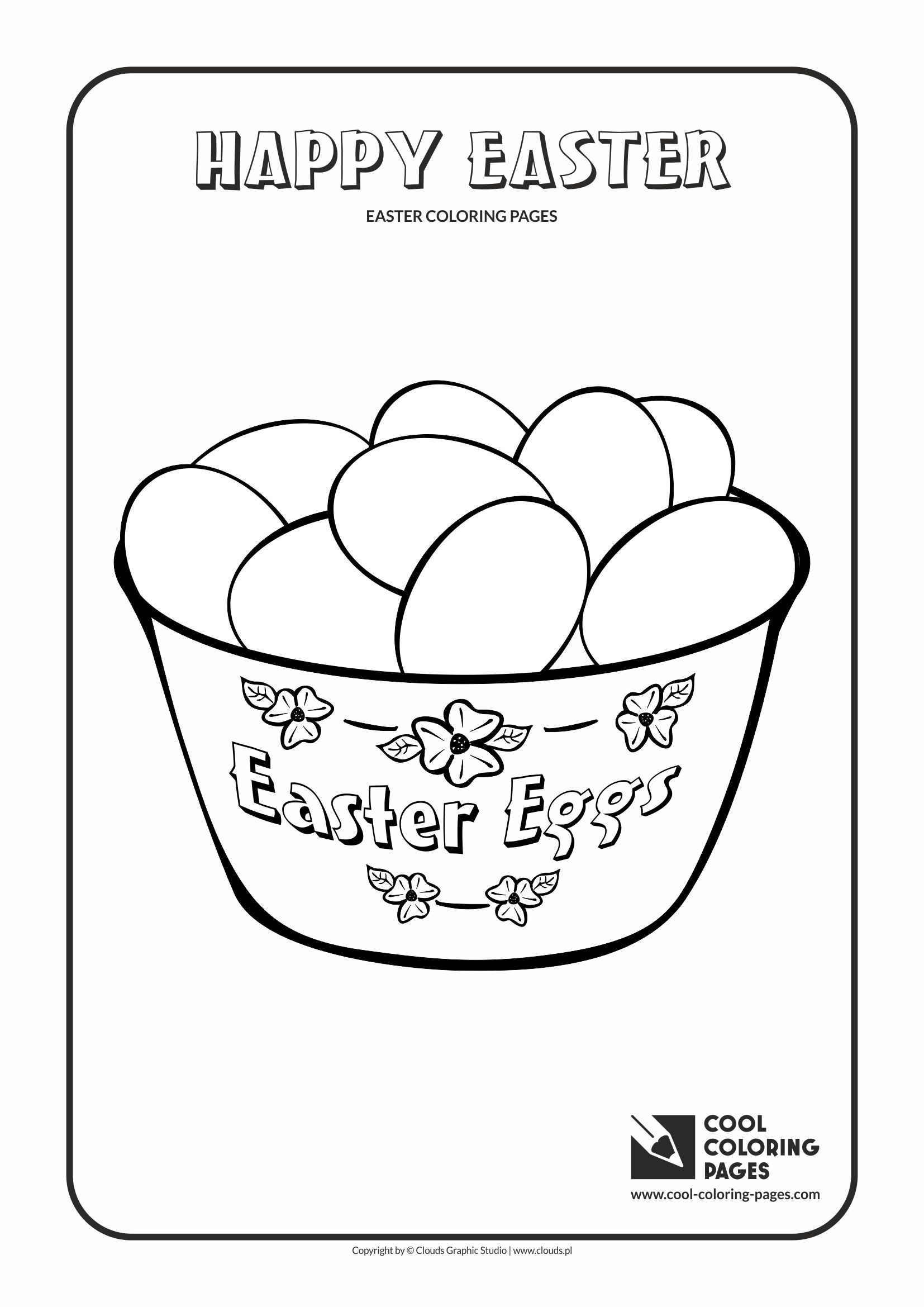 Cool Coloring Pages - Holidays / Easter eggs no 1 / Coloring page with Easter eggs no 1