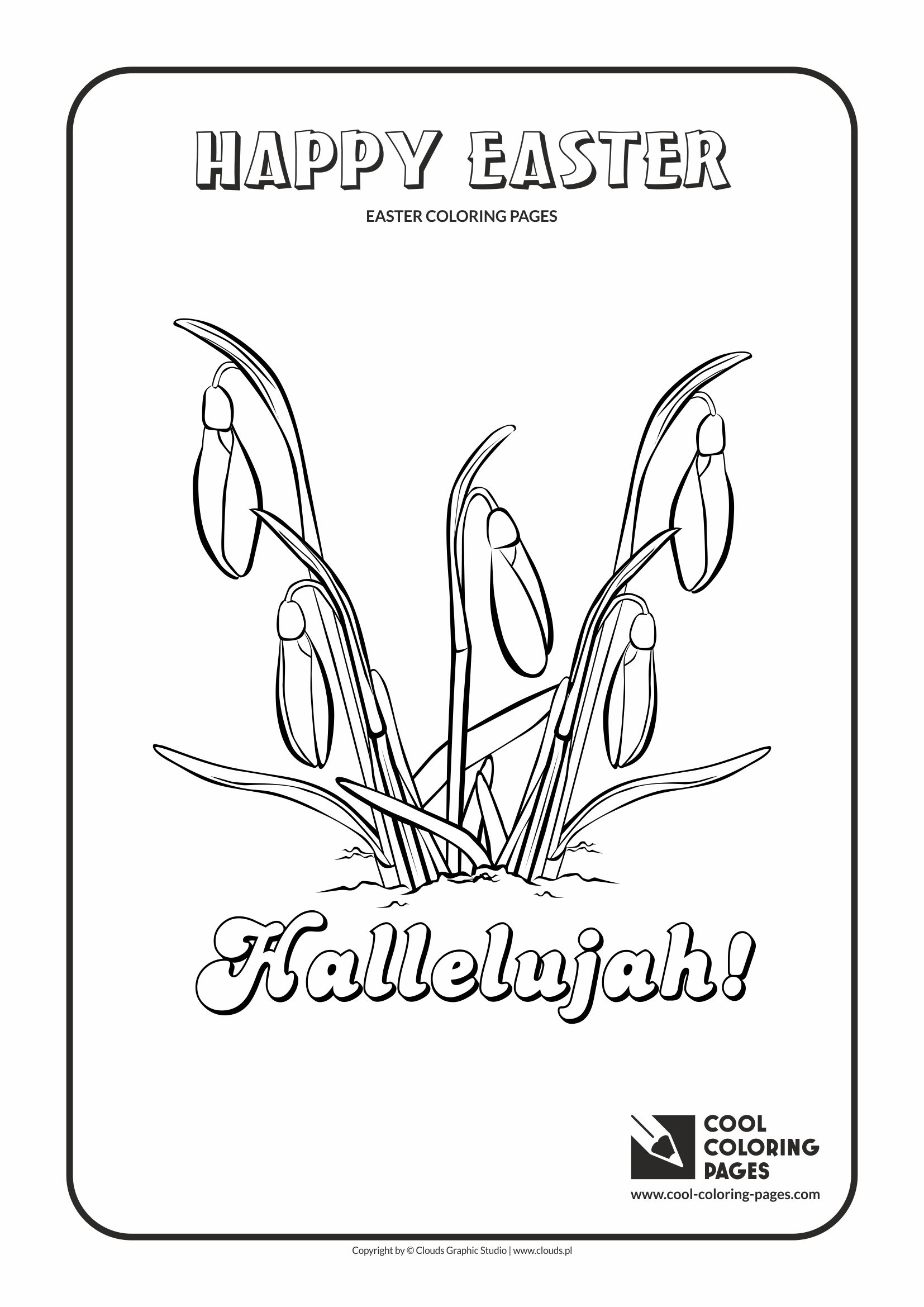 Cool Coloring Pages - Holidays / Easter flowers / Coloring page with Easter flowers