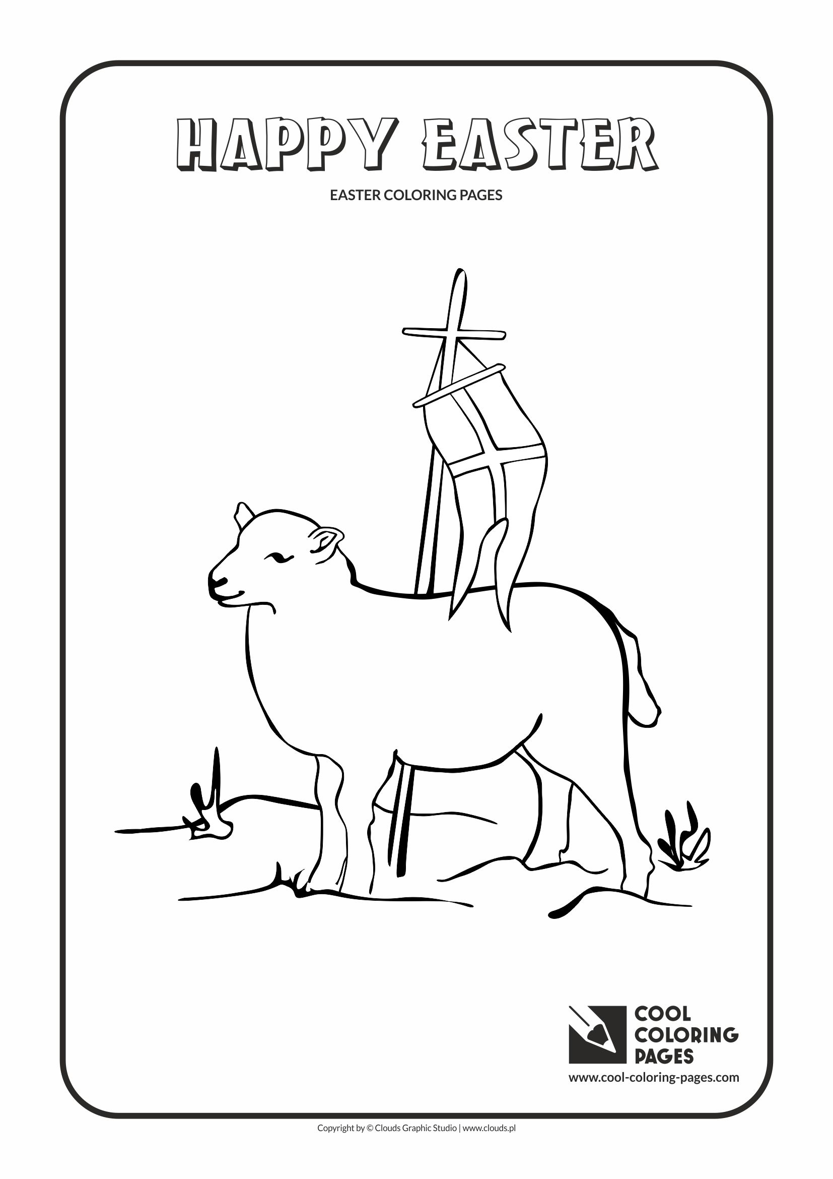 Cool Coloring Pages - Holidays / Easter lamb no 2 / Coloring page with Easter lamb no 2